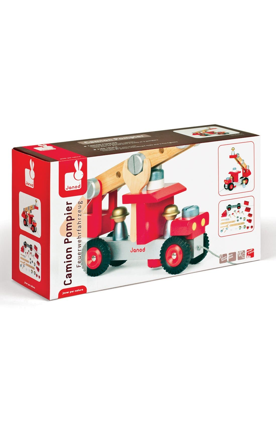 DIY Fire Truck,                             Alternate thumbnail 3, color,                             Red