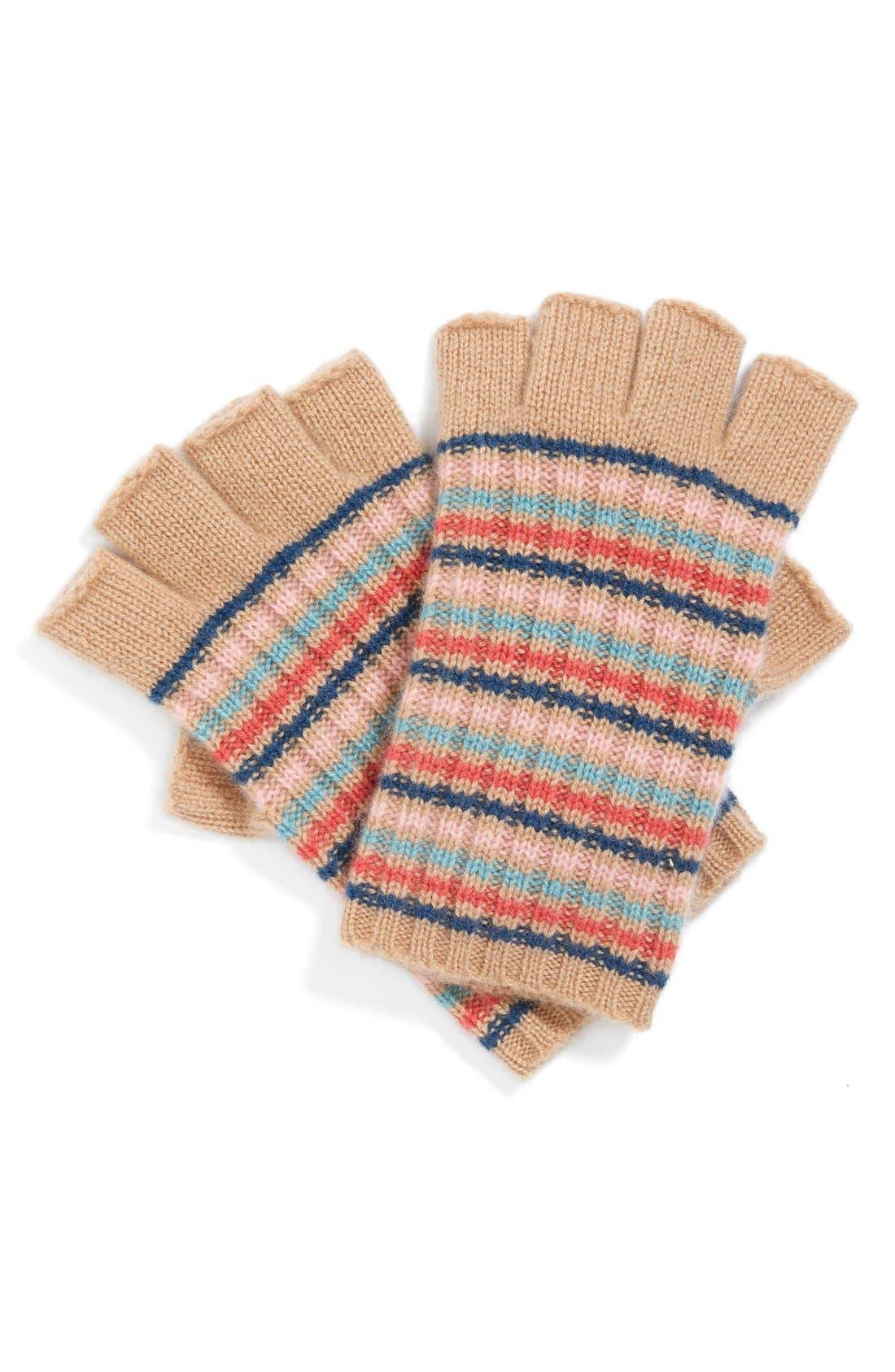 Alternate Image 3  - Made of Me Stripe Fingerless Cashmere Gloves