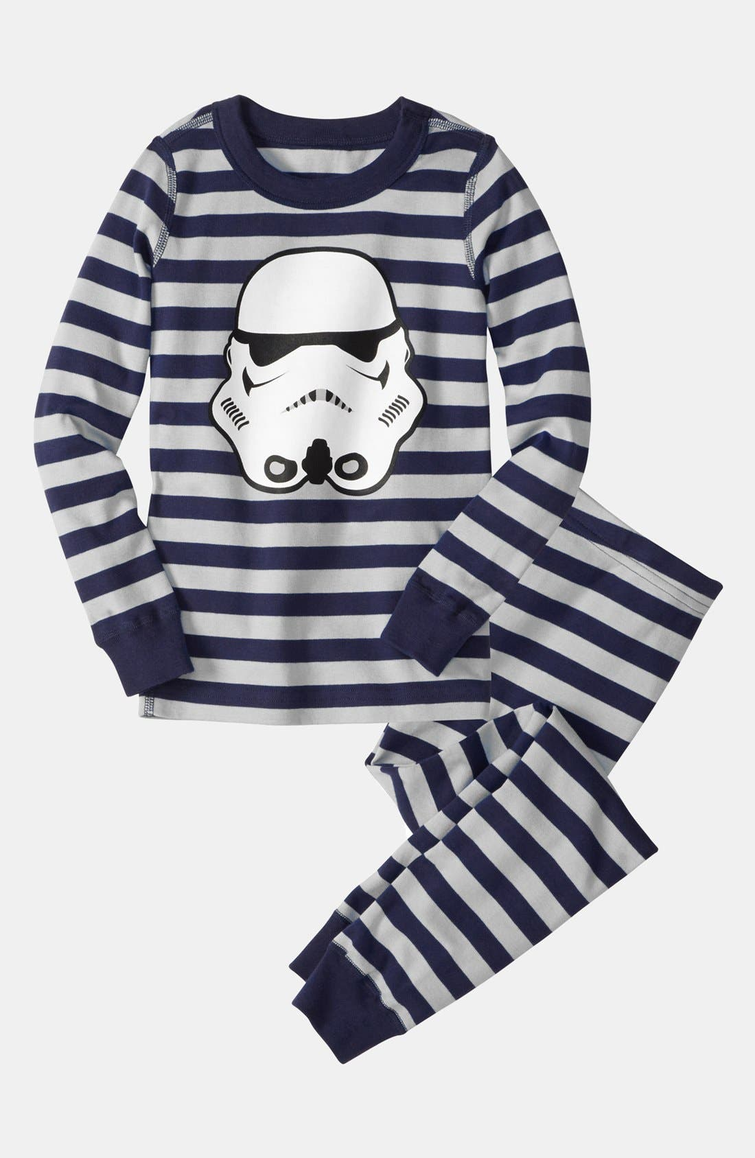 Alternate Image 1 Selected - Hanna Andersson Two Piece Fitted Pajamas (Toddler Boys)