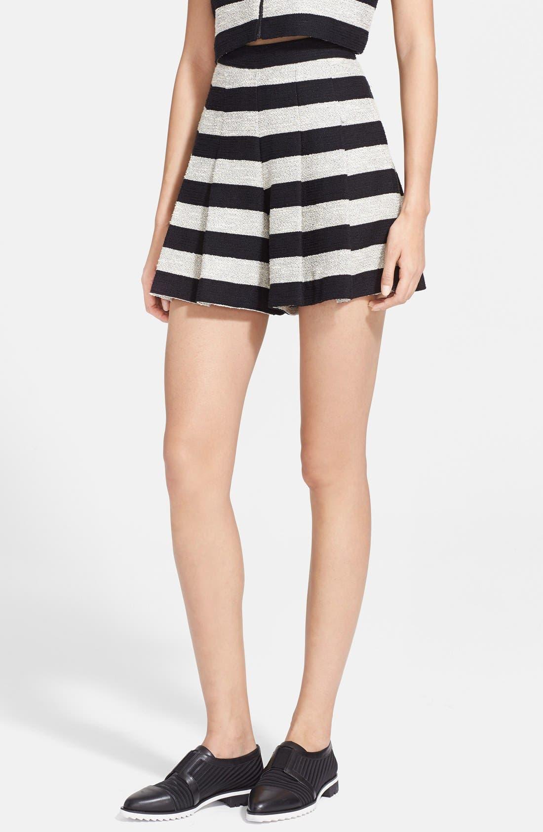 Main Image - Alice + Olivia Stripe Tweed Skirt