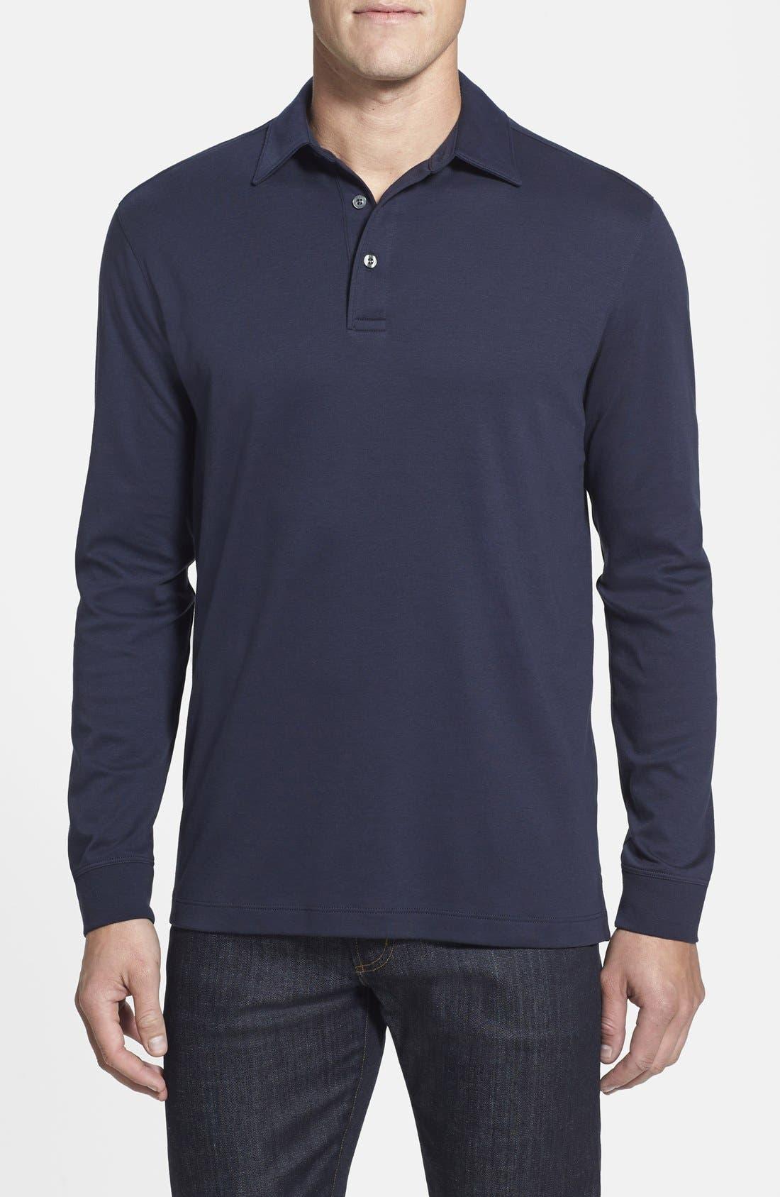 Belfair Pima Cotton Polo,                         Main,                         color, Liberty Navy