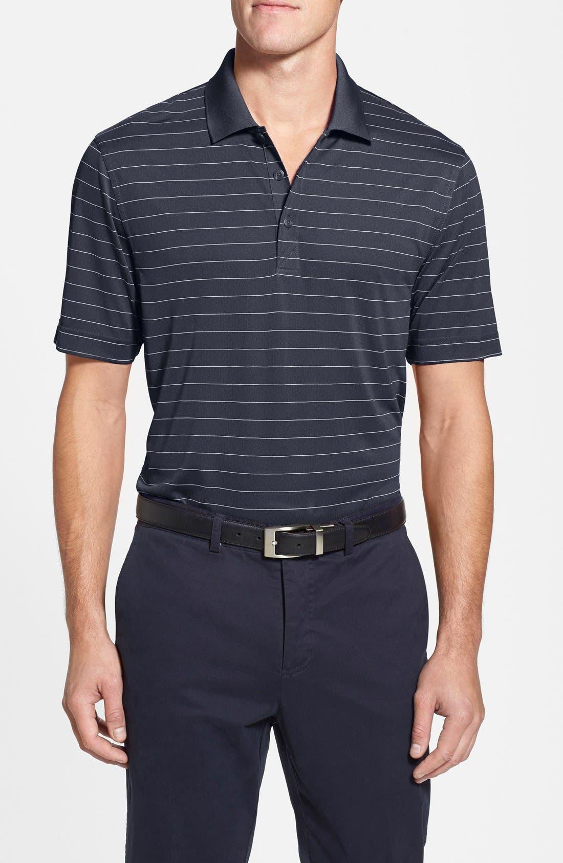 Cutter & Buck 'Franklin' Stripe DryTec® Polo (Big & Tall)