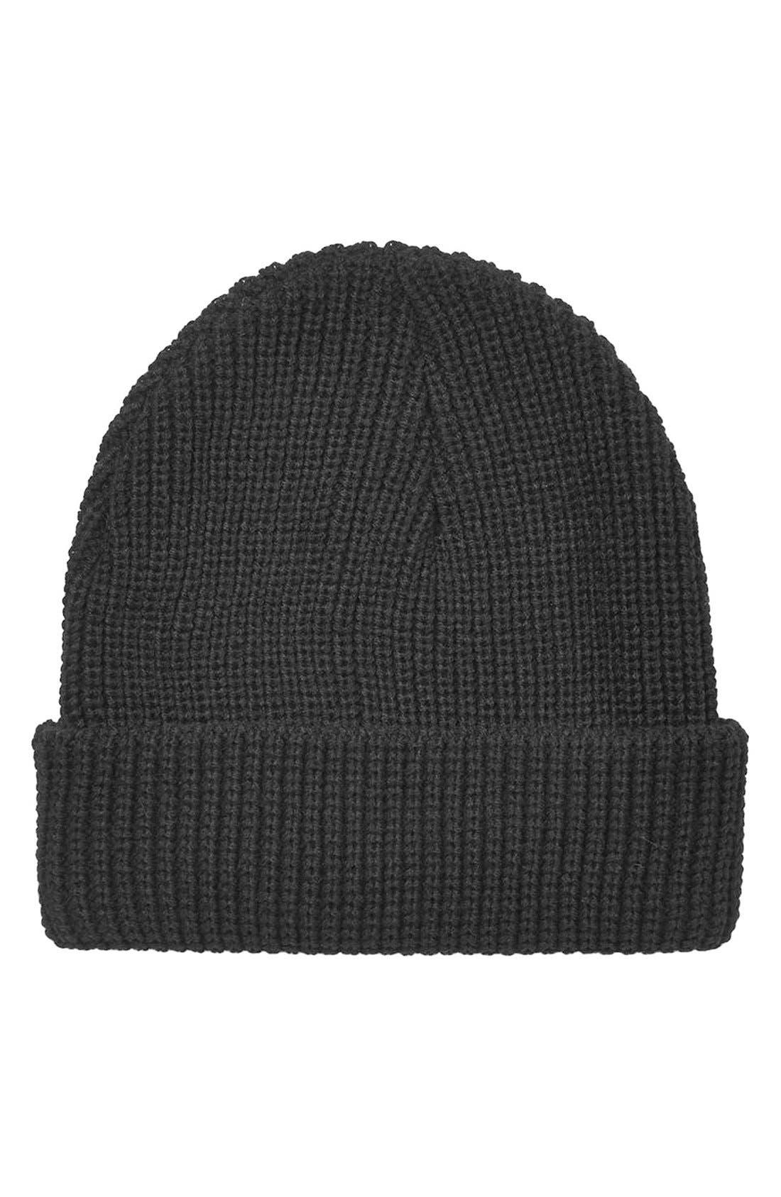 Main Image - Topshop Slouchy Rib Knit Beanie