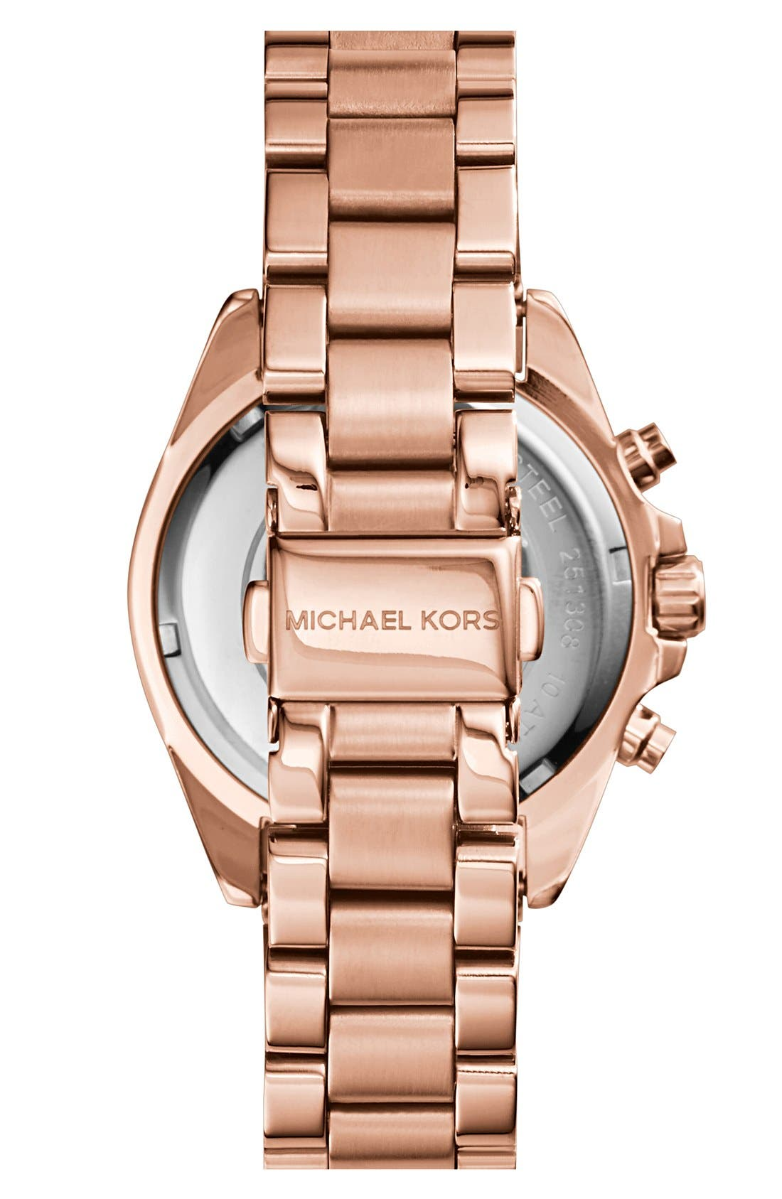 'Bradshaw - Mini' Chronograph Bracelet Watch, 36mm,                             Alternate thumbnail 2, color,                             Rose Gold