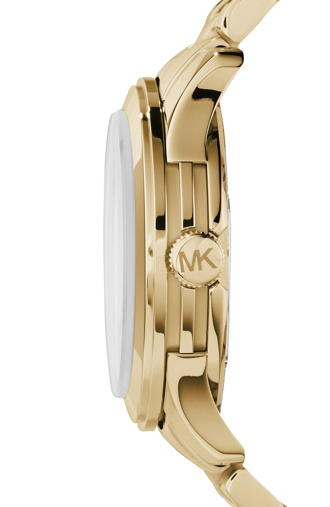 Alternate Image 3  - Michael Kors 'Runway' Logo Dial Bracelet Watch, 45mm
