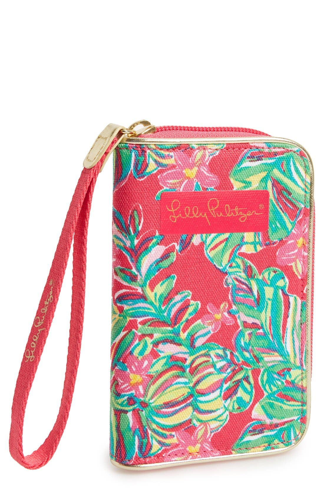 Alternate Image 1 Selected - Lilly Pulitzer® 'Drop Me a Line - Jungle Tumble' Smartphone Wristlet