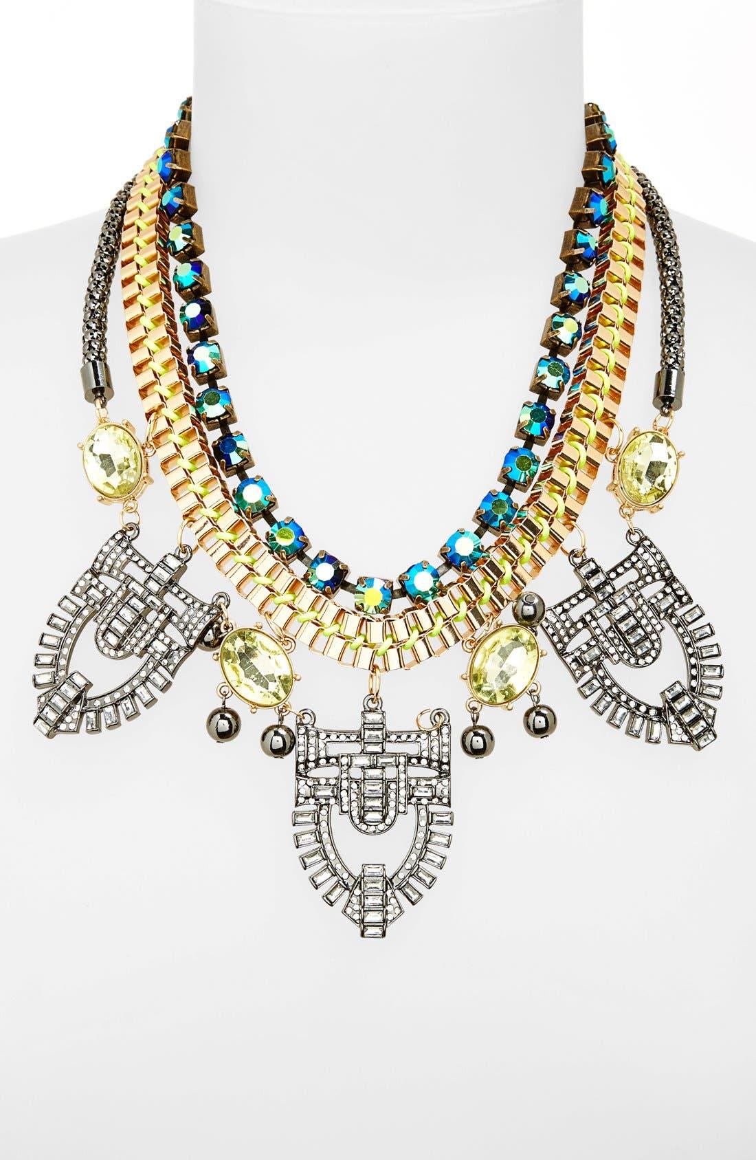 Alternate Image 2  - Berry Art Deco Layered Bib Necklace