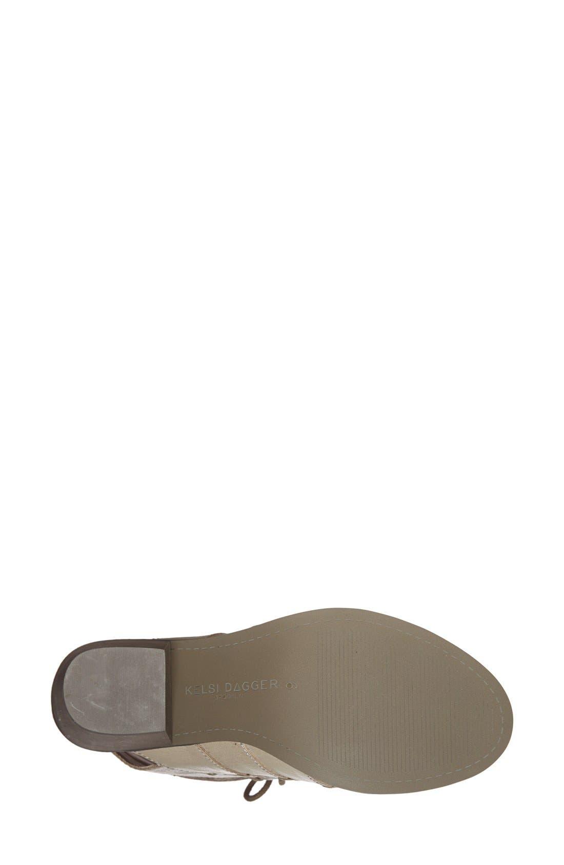Alternate Image 4  - Kelsi Dagger Brooklyn 'Katreena' Leather Open Toe Bootie (Women)