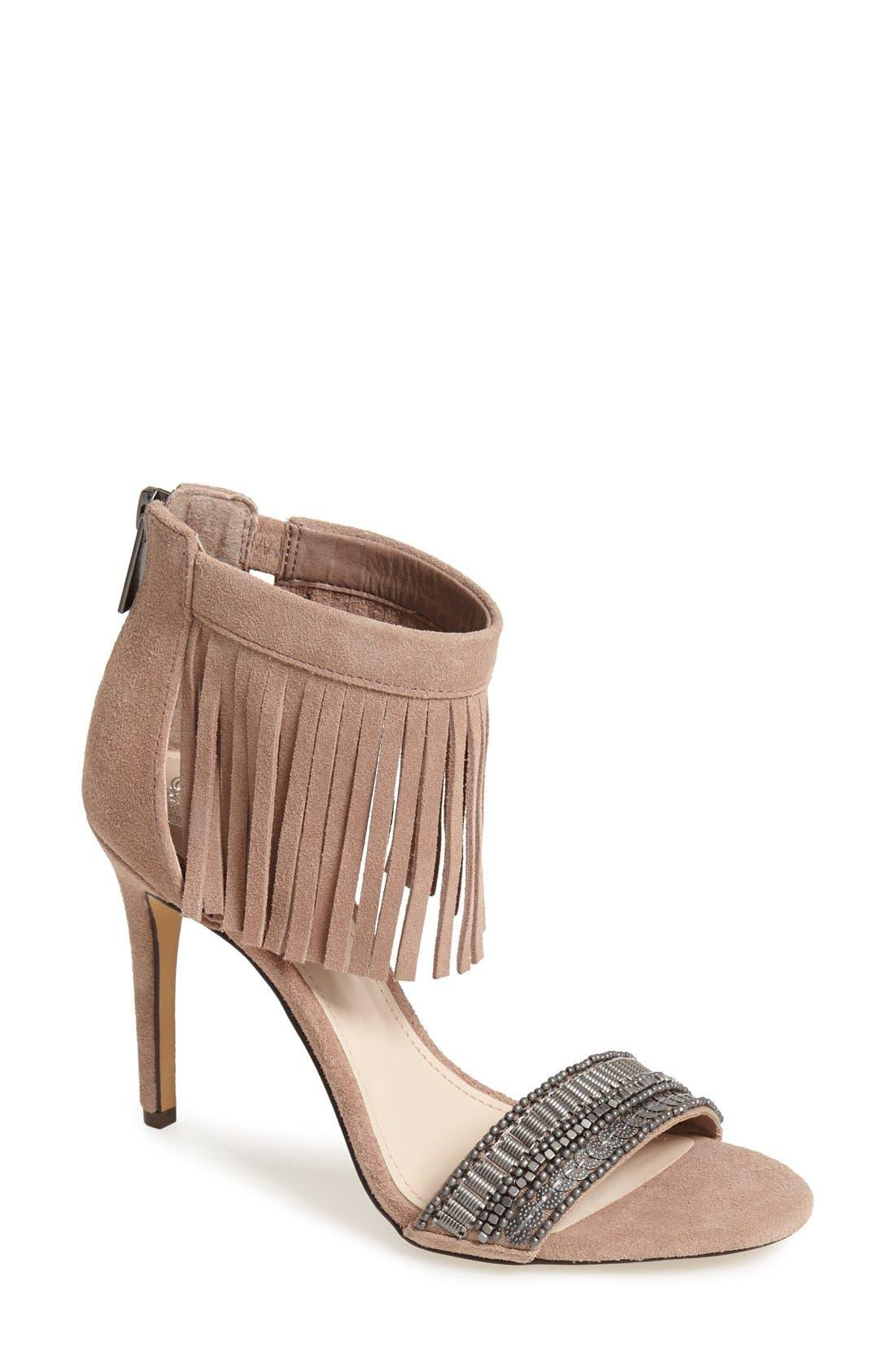 Alternate Image 1 Selected - Vince Camuto 'Trumen' Fringe Sandal (Women)