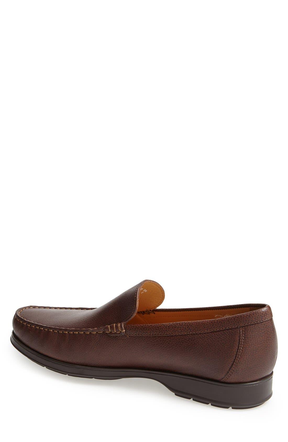 'Henri' Loafer,                             Alternate thumbnail 2, color,                             Chestnut Leather