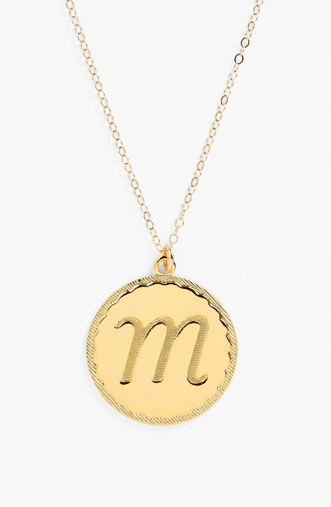 Moon and Lola 'Dalton' Long Initial Pendant Necklace