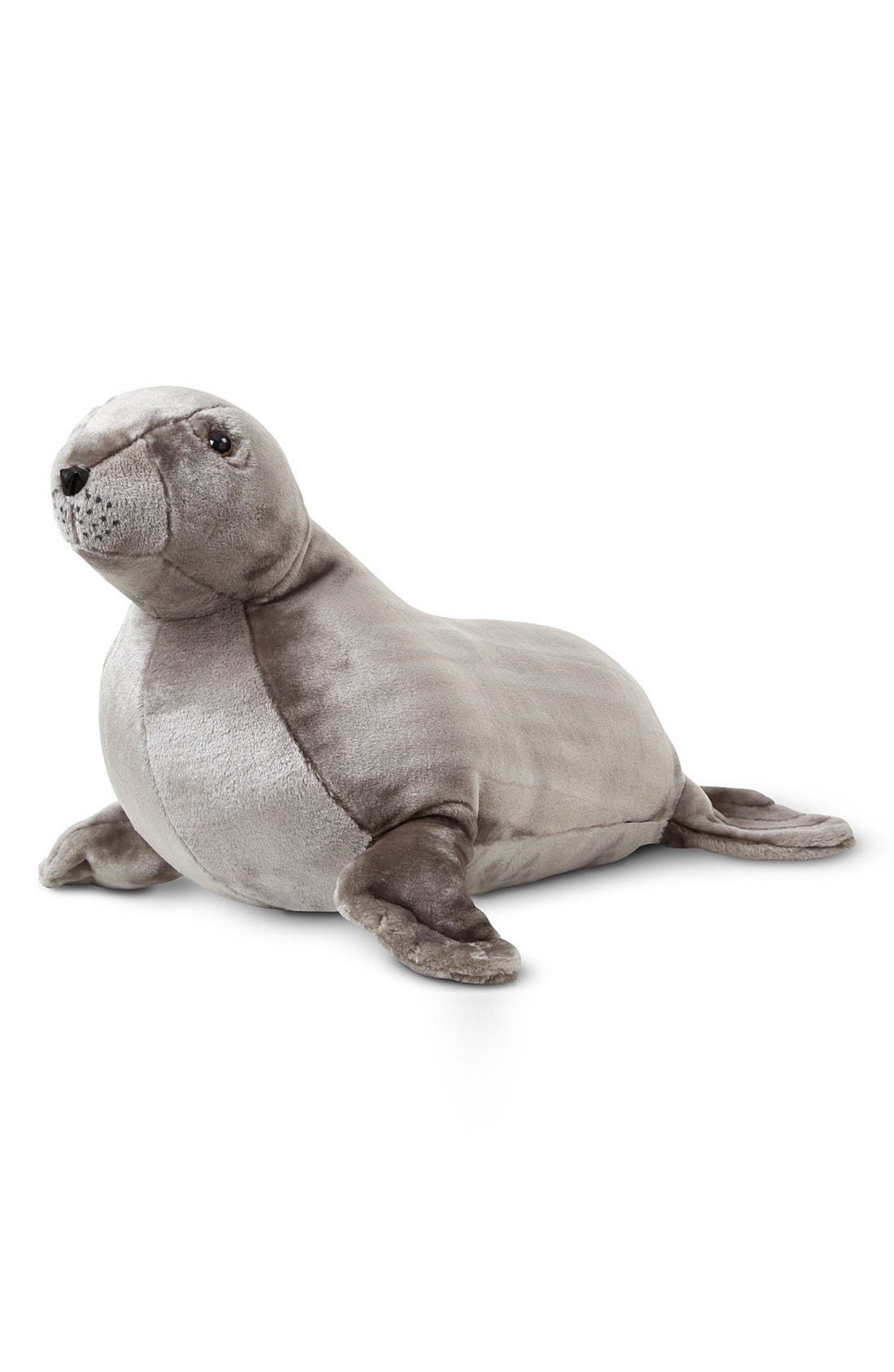 Plush Sea Lion,                             Main thumbnail 1, color,                             Grey
