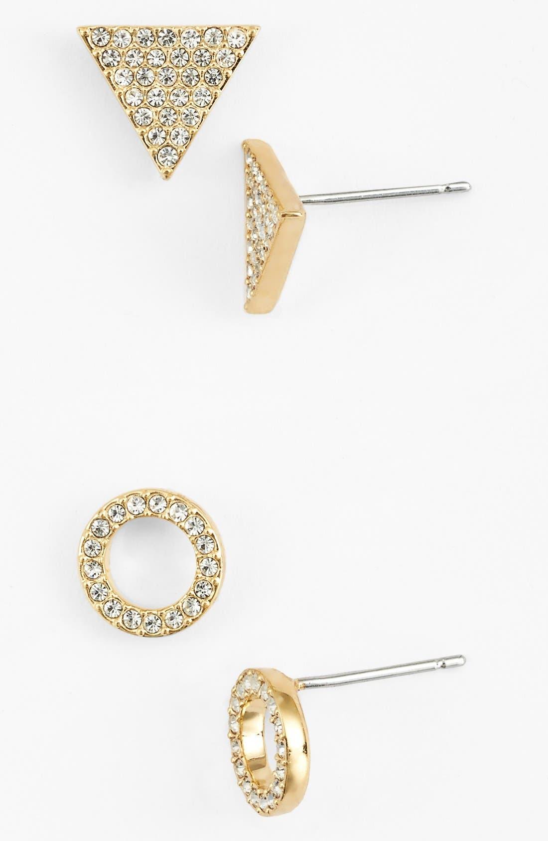 Main Image - Nadri Pavé Stud Earrings (Set of 2)