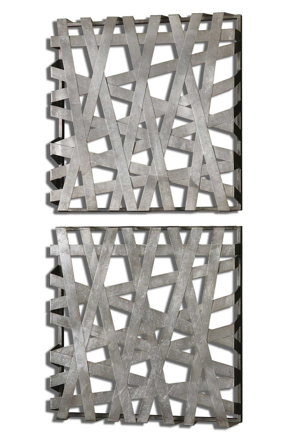 'Alita Squares' Wall Art,                         Main,                         color, Silver
