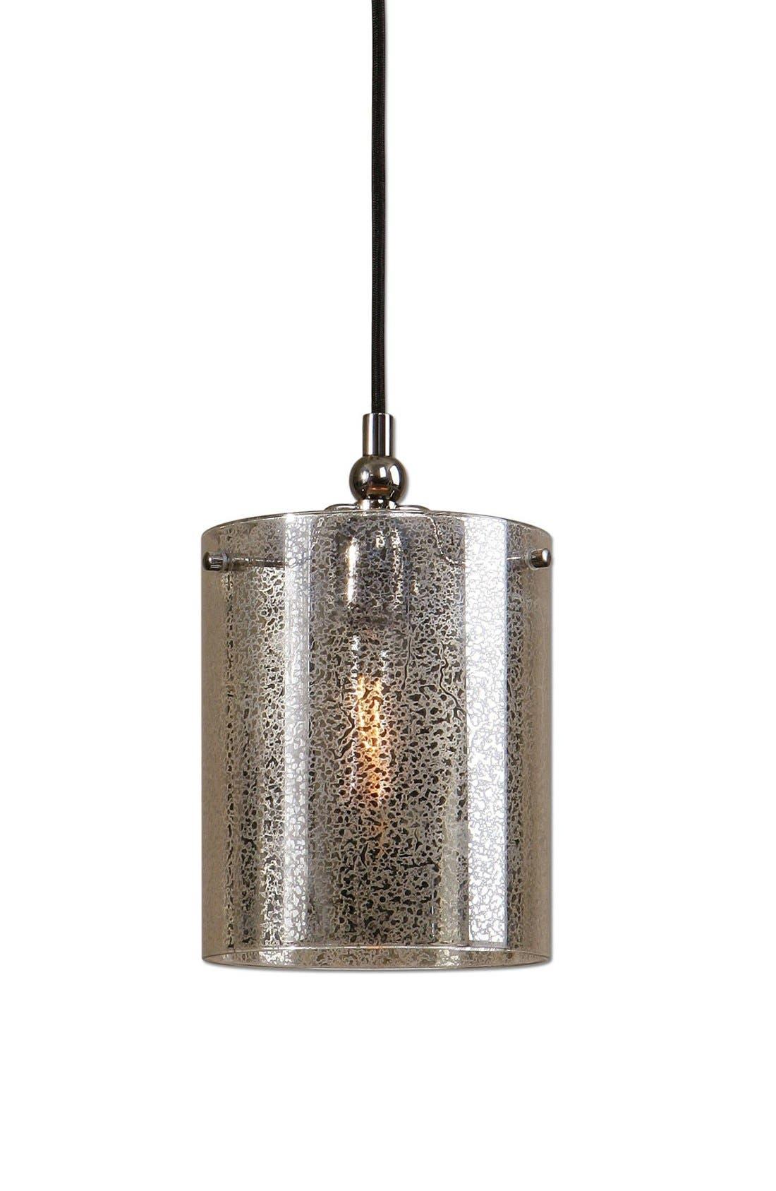 'Mariano' Mercury Glass Mini Pendant Lamp,                         Main,                         color, Silver