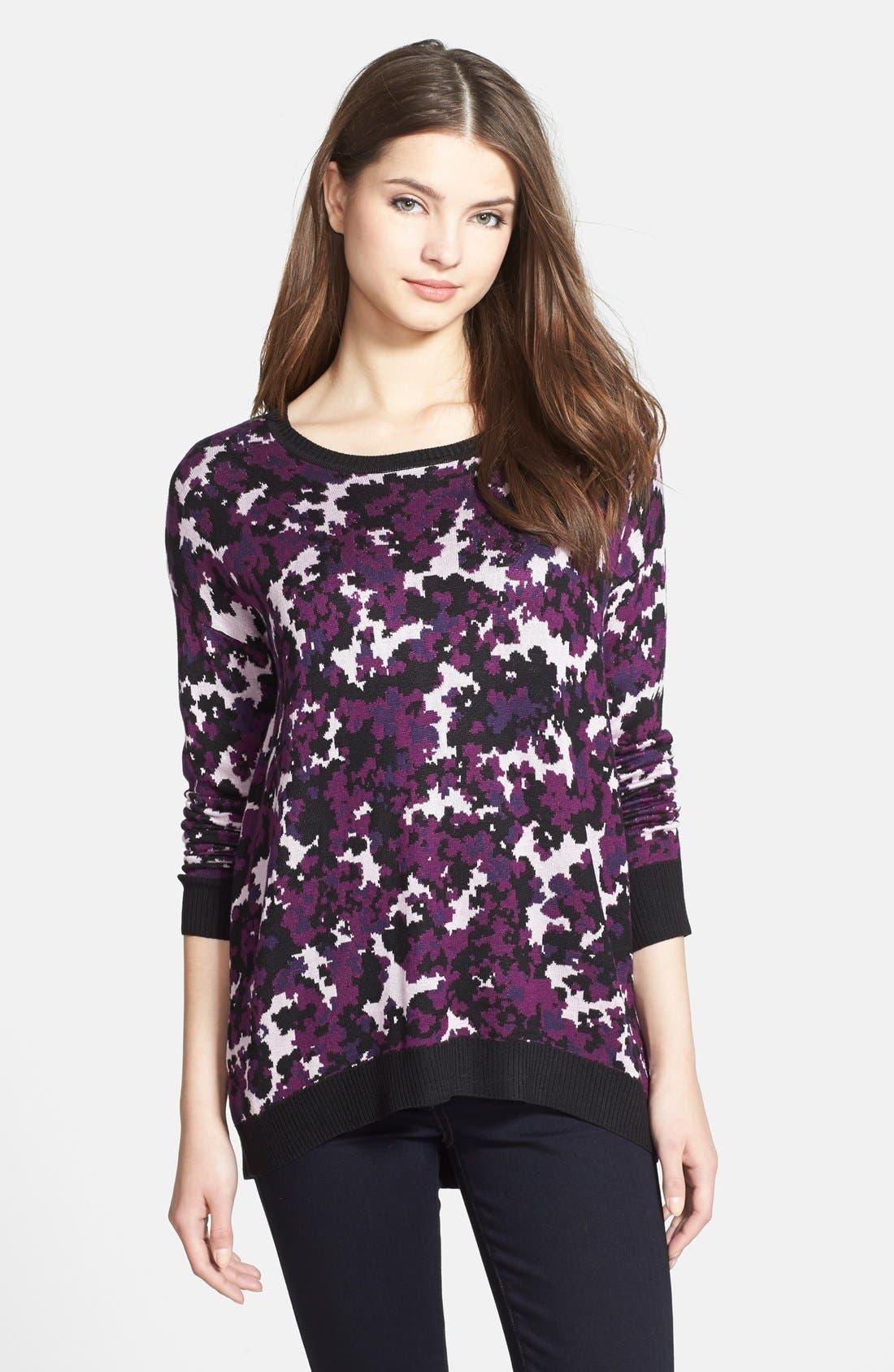 Alternate Image 1 Selected - kensie Drapey Camo Sweater