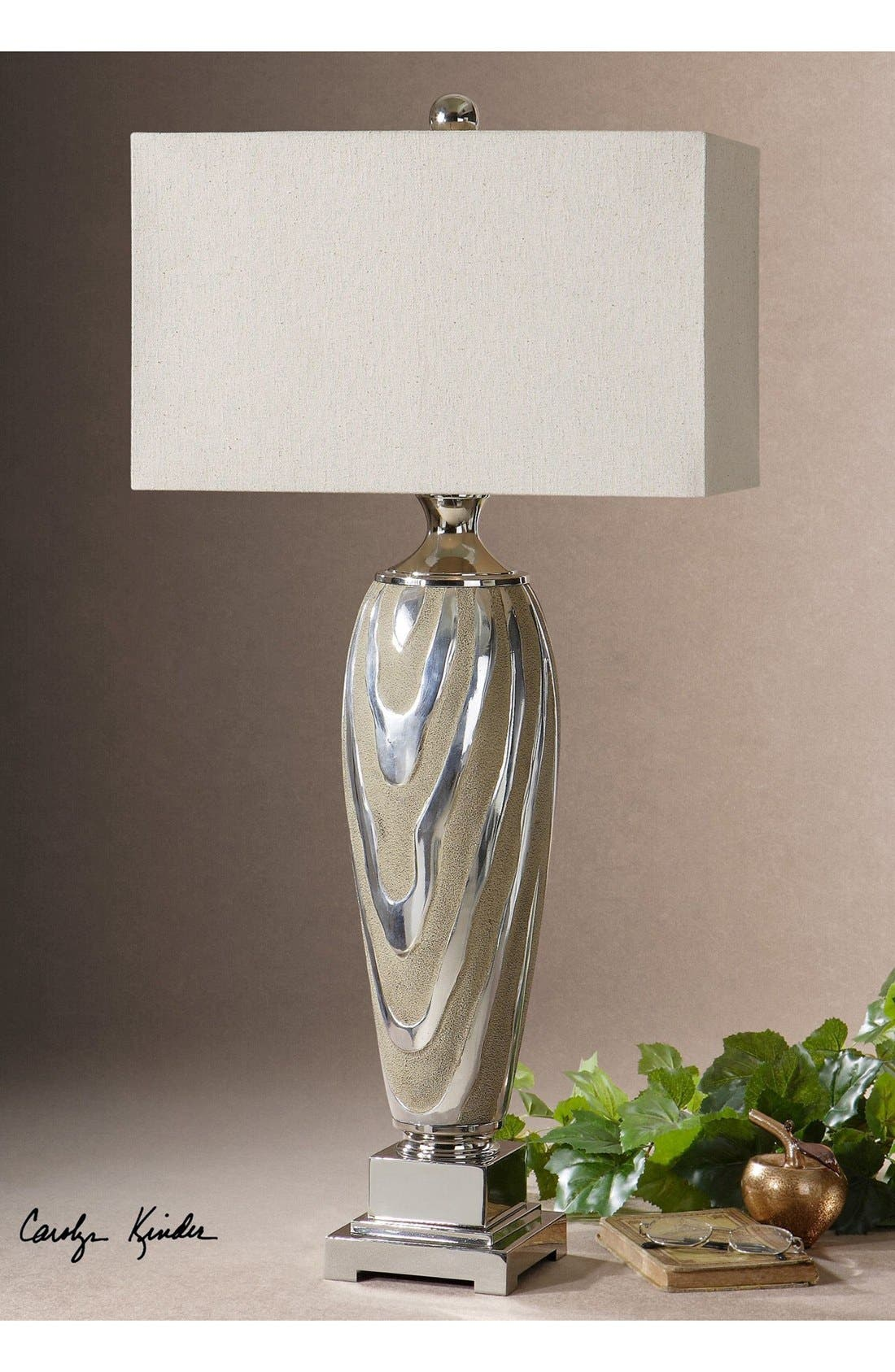 'Allegheny' Ceramic Table Lamp,                             Alternate thumbnail 2, color,                             Grey