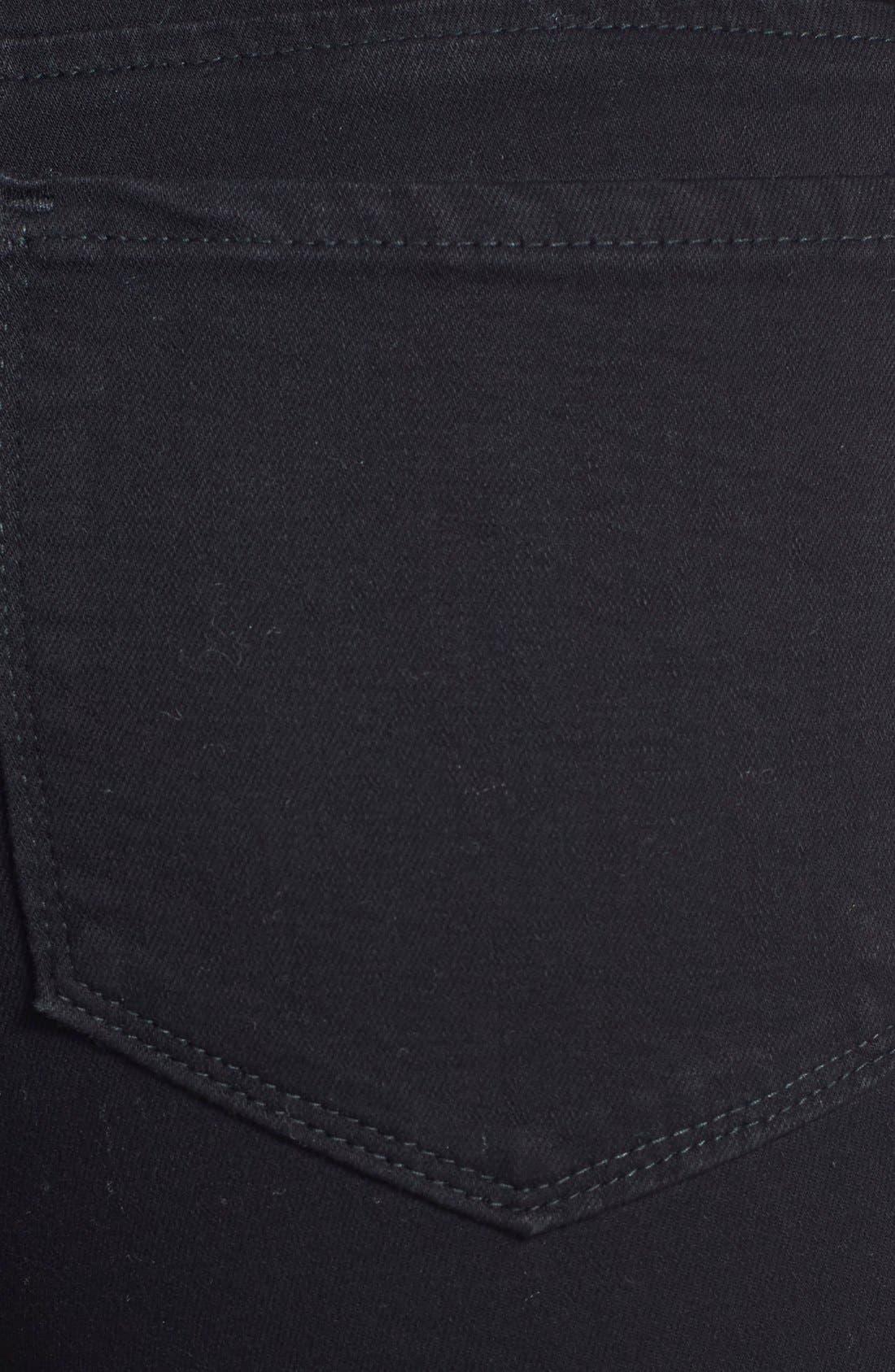 Alina Stretch Ankle Jeans,                             Alternate thumbnail 3, color,                             Black