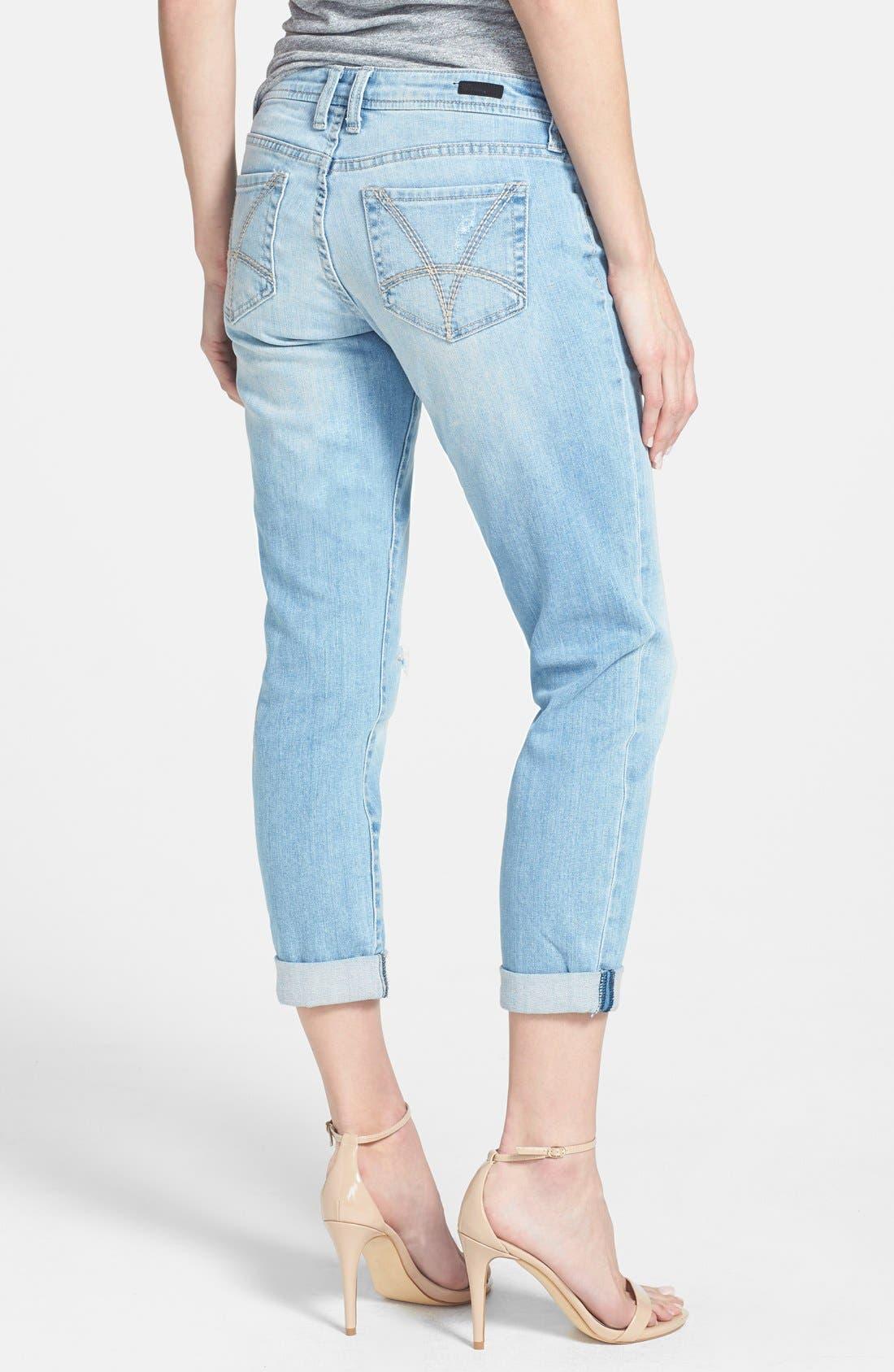 Alternate Image 2  - KUT from the Kloth 'Adele' Distressed Crop Boyfriend Jeans (Slick)