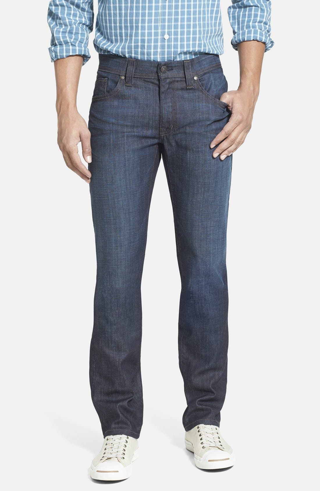 Alternate Image 1 Selected - Fidelity Denim 'Jimmy' Slim Straight Leg Jeans (Harvard)