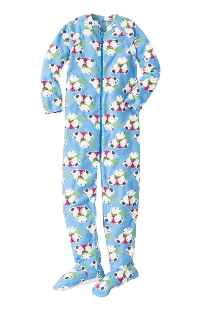 Hanna Andersson One Piece Fleece Pajamas Toddler Girls