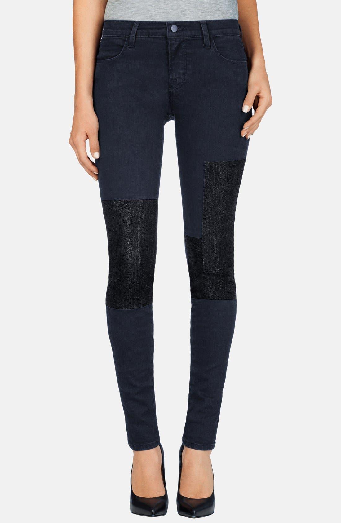 Alternate Image 1 Selected - J Brand 'Nova' Paneled Skinny Jeans (Bluebird)