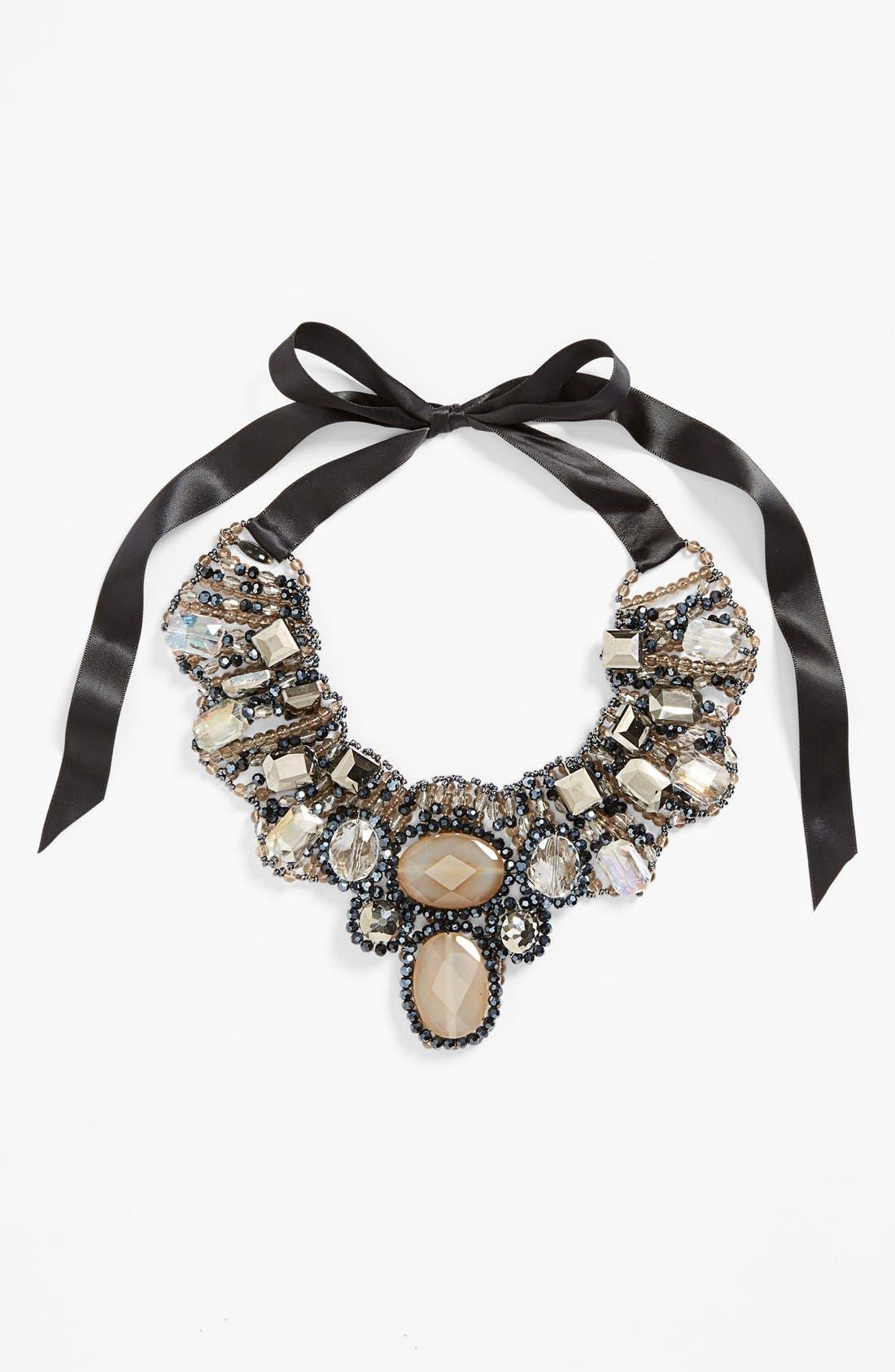 Main Image - Tasha 'Dreamy' Ribbon Collar Necklace