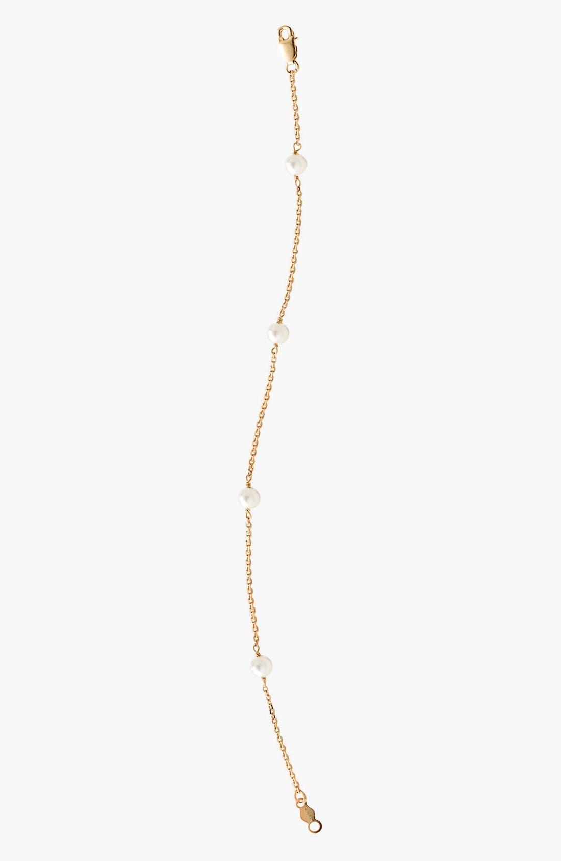 Main Image - Mignonette 14k Gold & Cultured Pearl Bracelet (Toddler Girls)