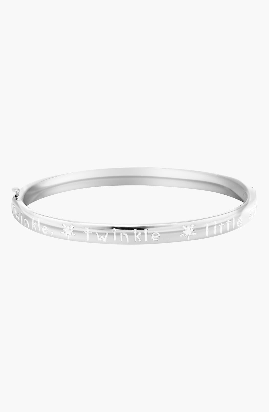 Mignonette 'Little Star' Sterling Silver Bracelet (Toddler Girls)