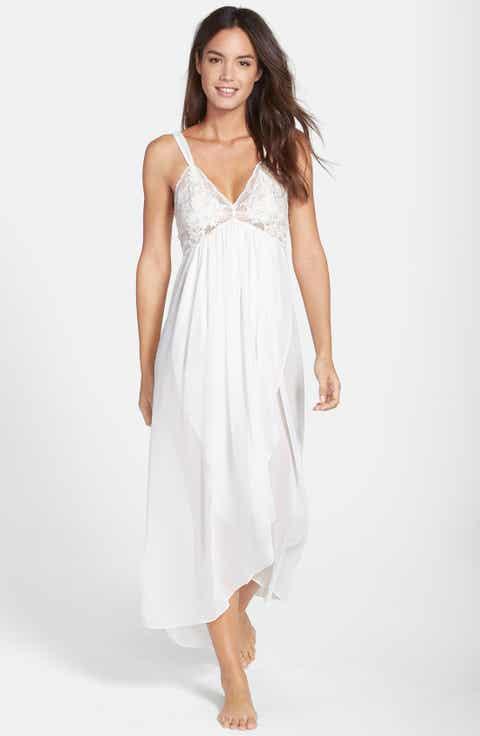 Jonquil 'Tessa' Lace & Chiffon Nightgown