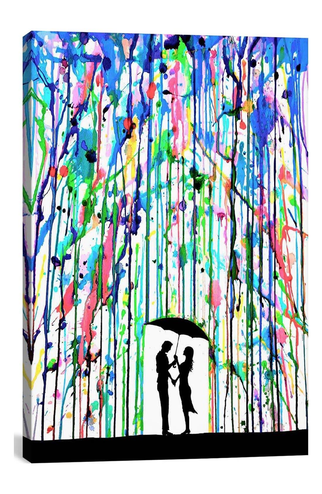 'Pour Deux - Marc Allante' Giclée Print Canvas Art,                             Main thumbnail 1, color,                             White/ Multi