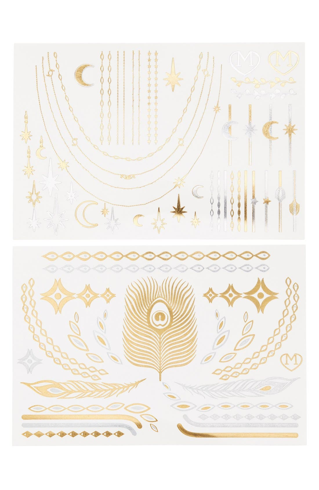 Alternate Image 1 Selected - Madness Accessories 'Boho' Temporary Flash Tattoos (2-Pack)