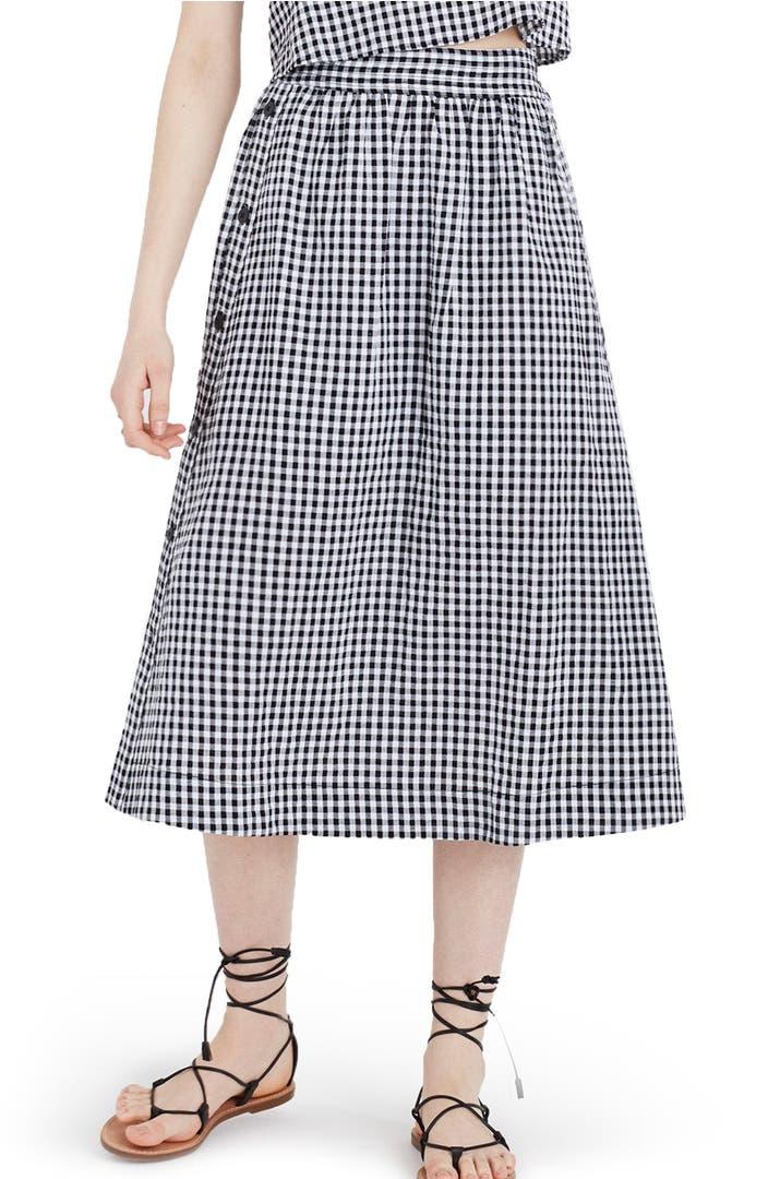 Side Button Skirt 24