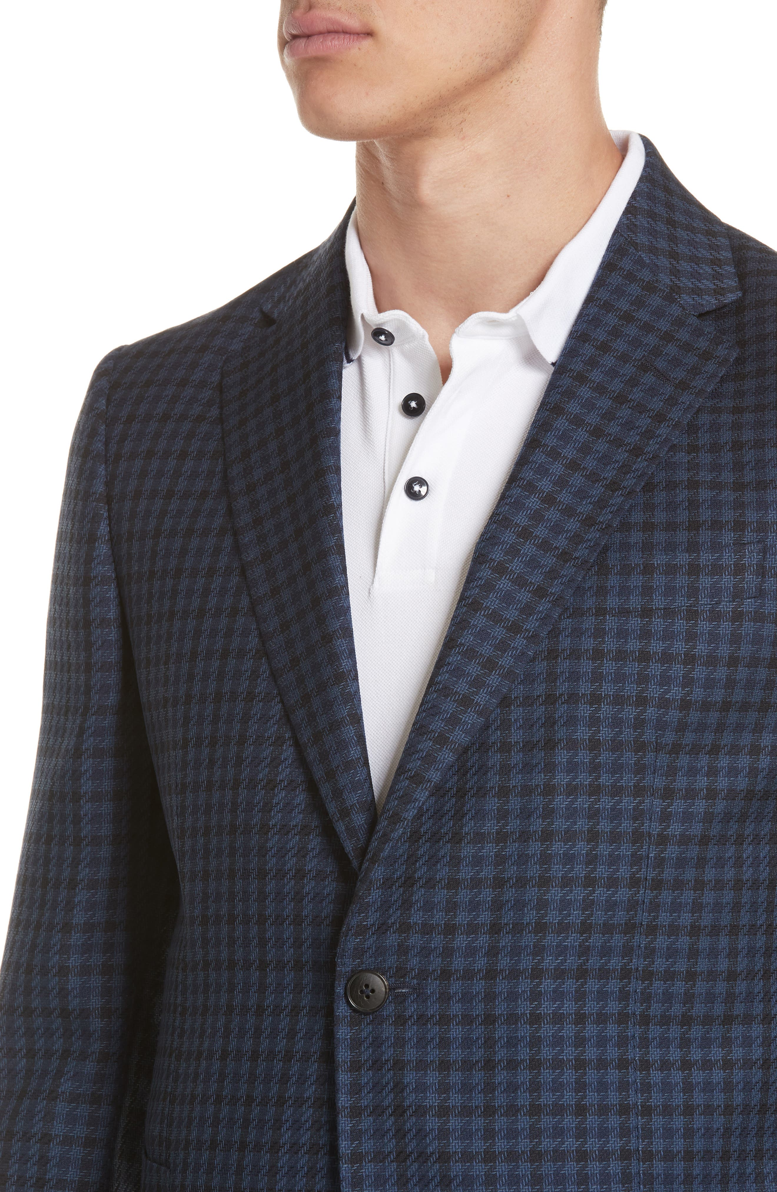 Trim Fit Houndstooth Wool Sport Coat,                             Alternate thumbnail 4, color,                             416