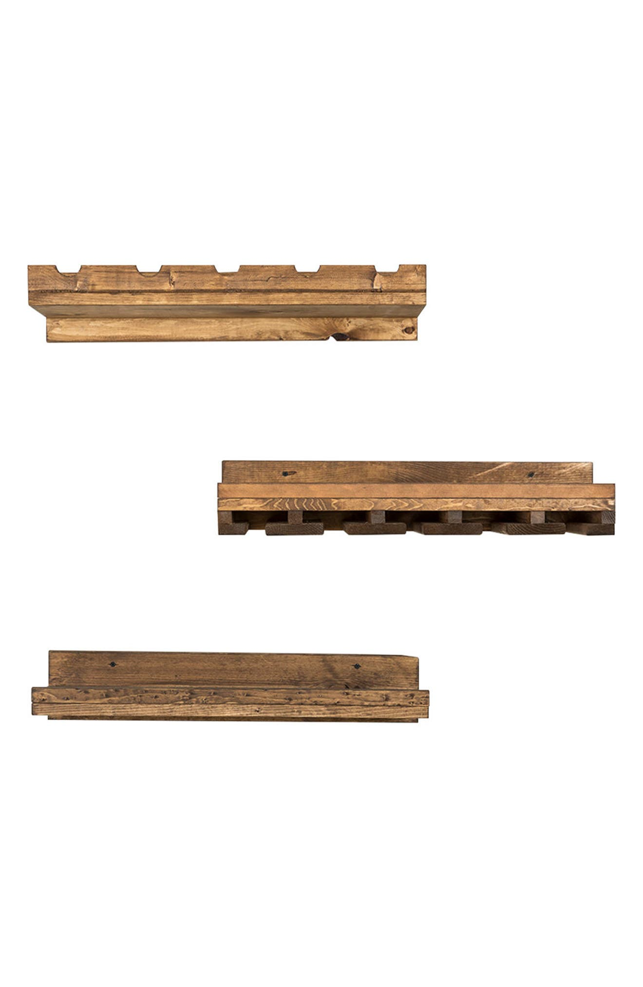 Set of 3 Pine Wood Wine Racks,                         Main,                         color, 200