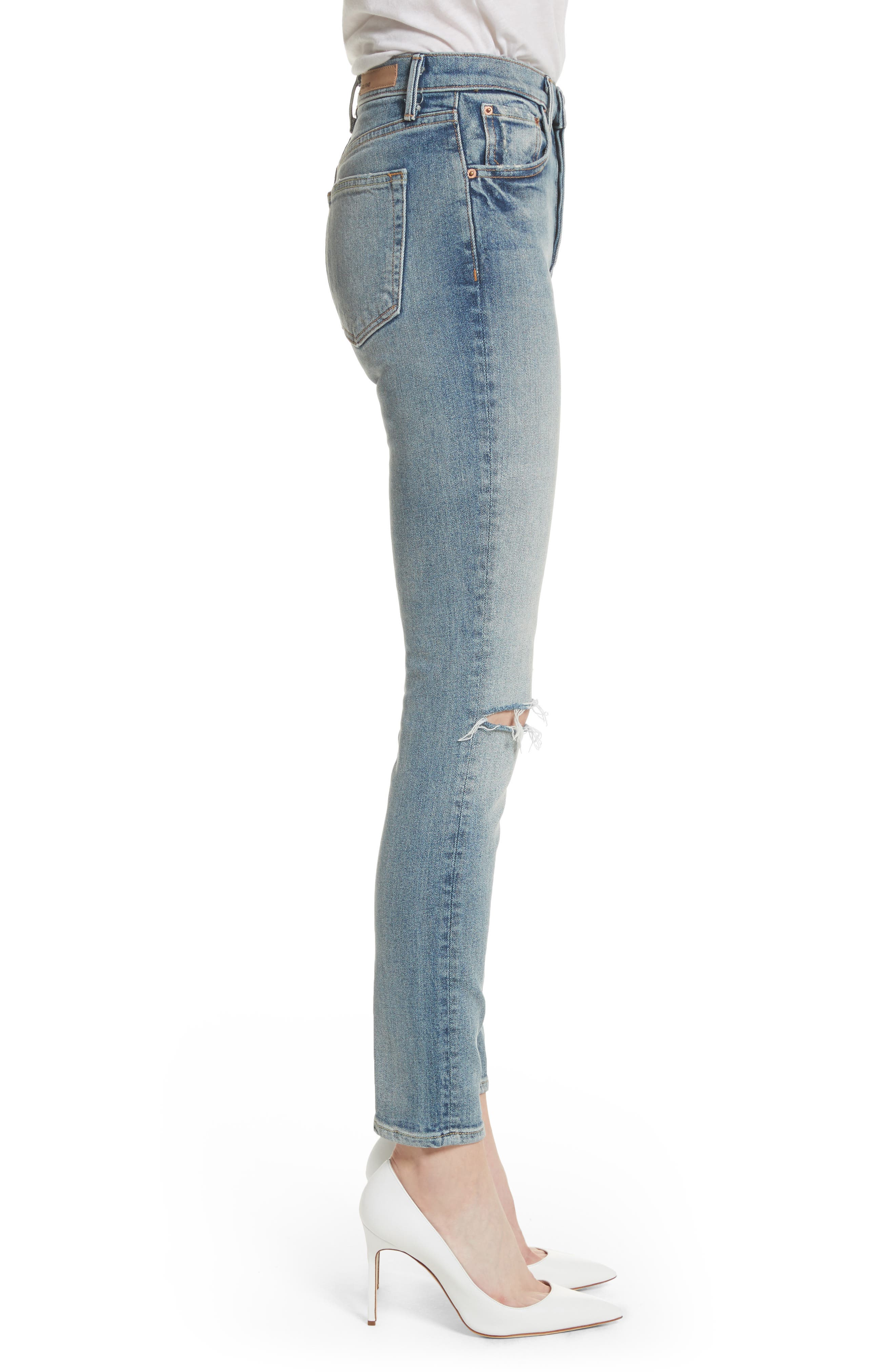 Karolina High Waist Jeans,                             Alternate thumbnail 3, color,                             WHAT IS LIFE
