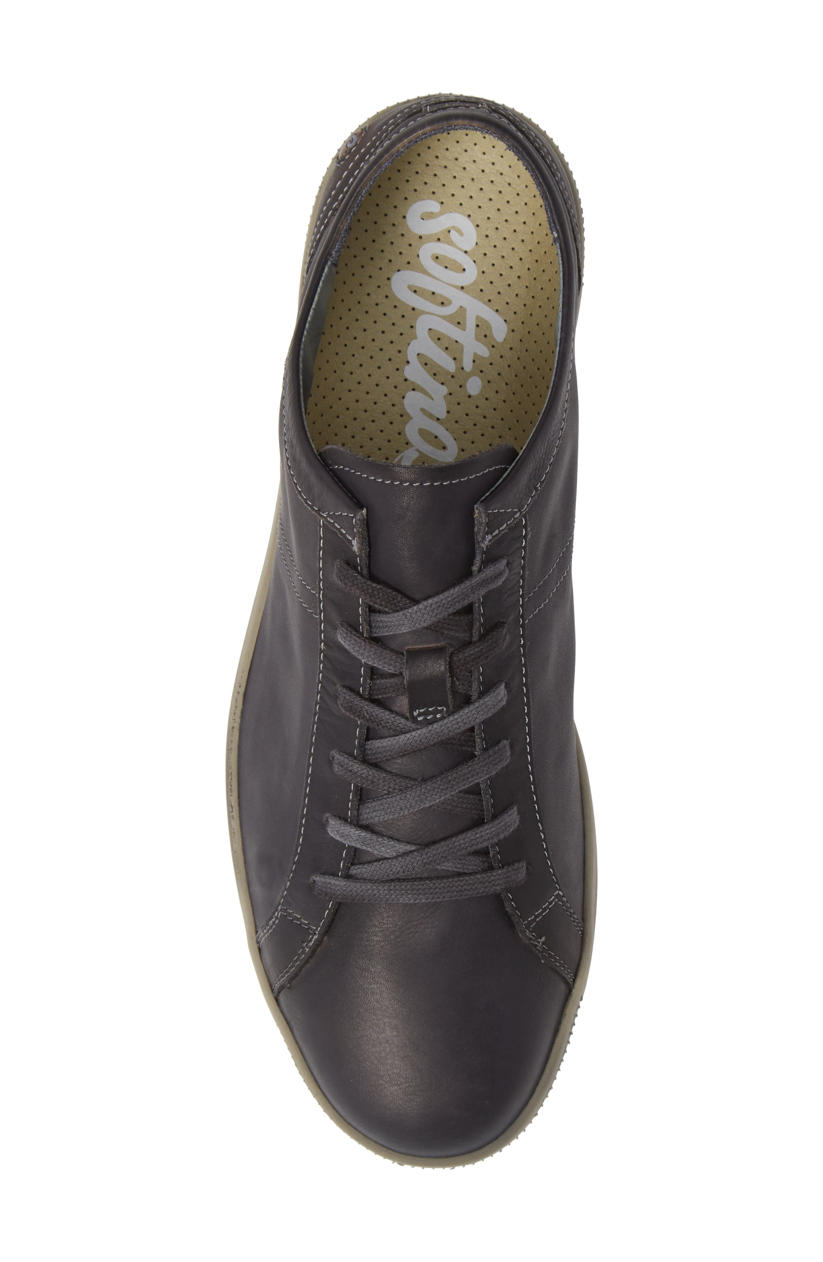 Tom Sneaker,                             Alternate thumbnail 5, color,                             ANTHRACITE WASHED LEATHER