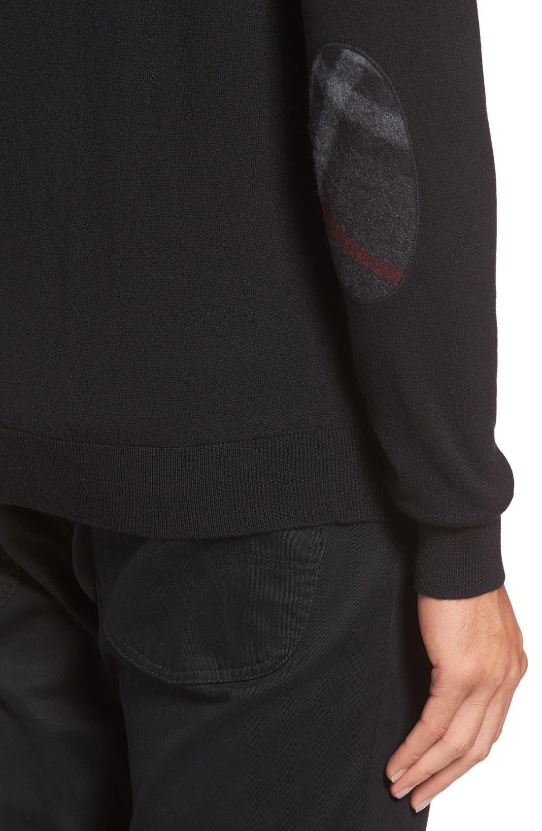 Brit Richmond Cotton & Cashmere Sweater,                             Alternate thumbnail 4, color,                             001
