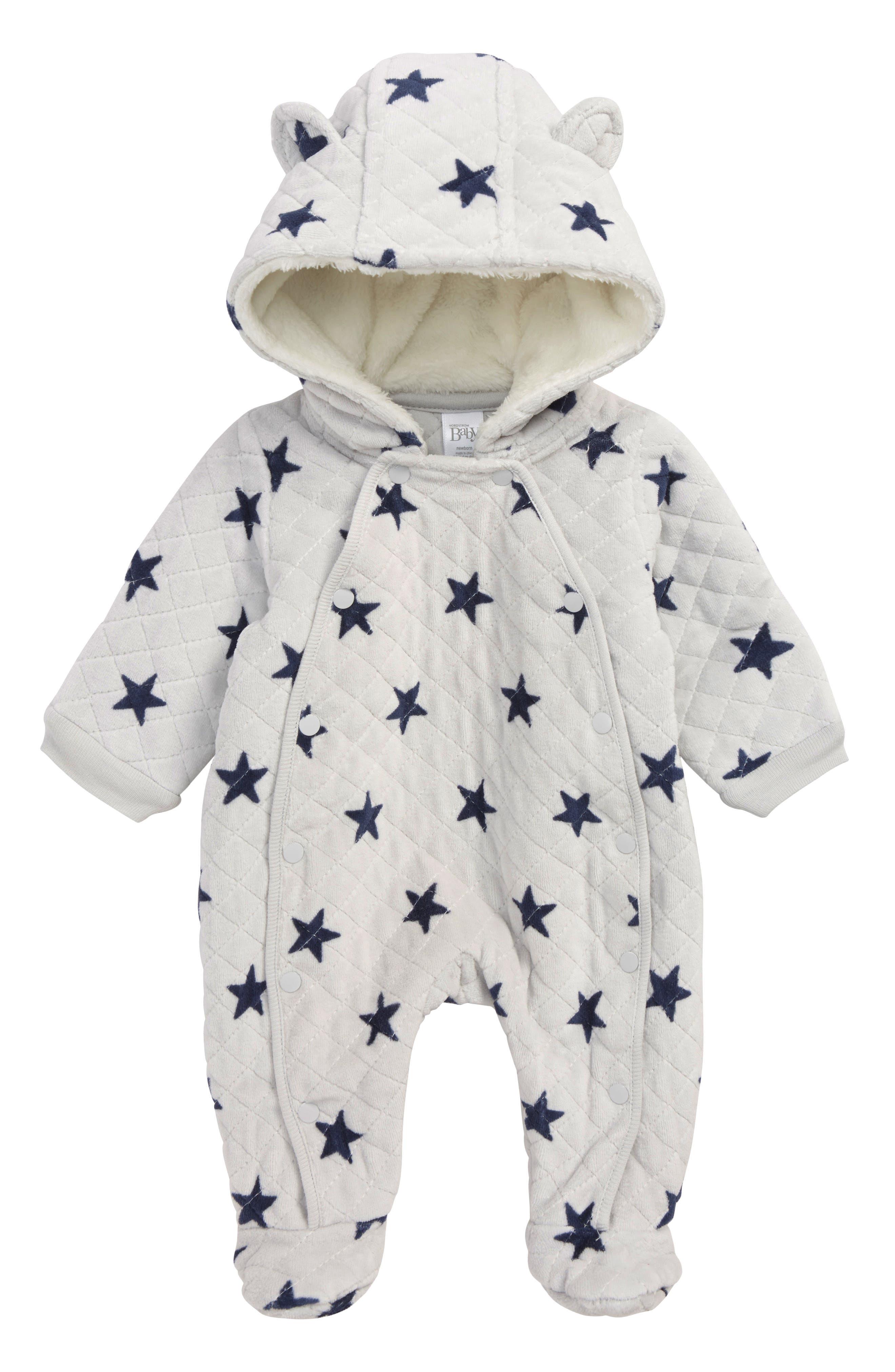 Hooded Bunting,                         Main,                         color, GREY MICRO STARS