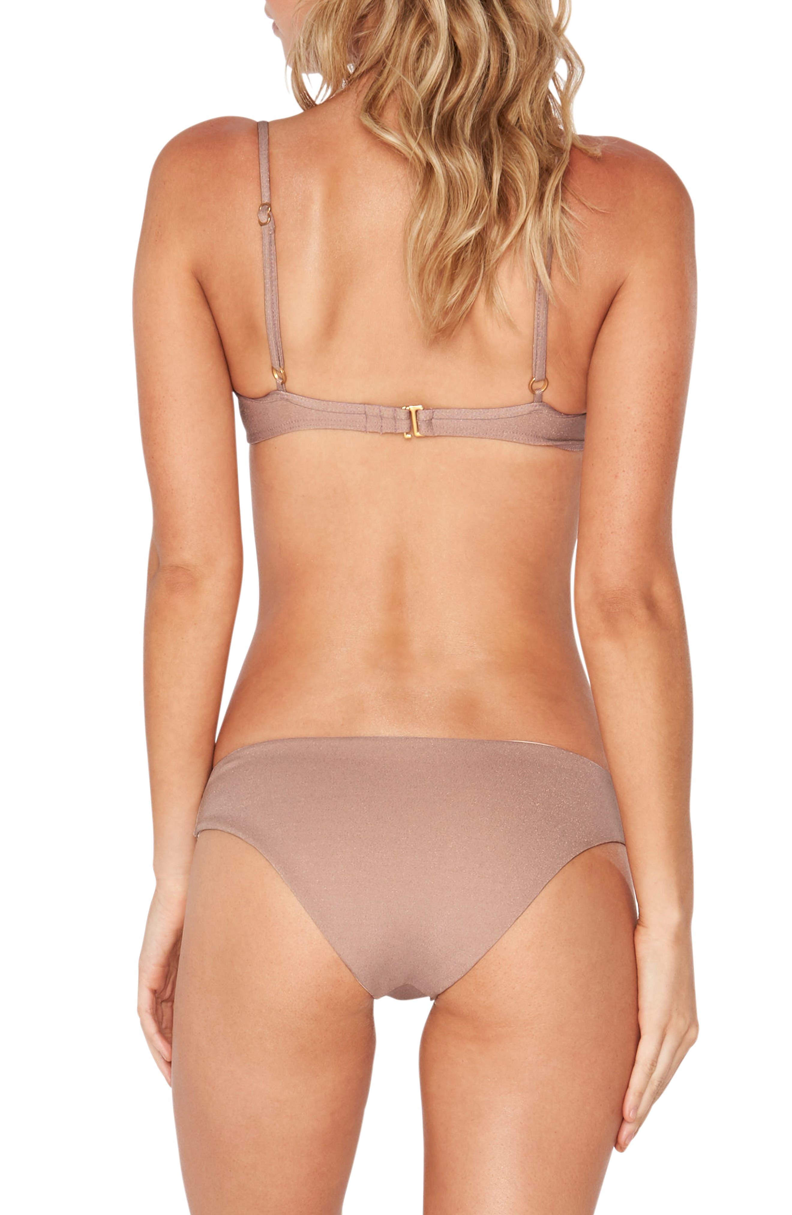 Sandy Shine on Me Metallic Bikini Bottoms,                             Alternate thumbnail 6, color,