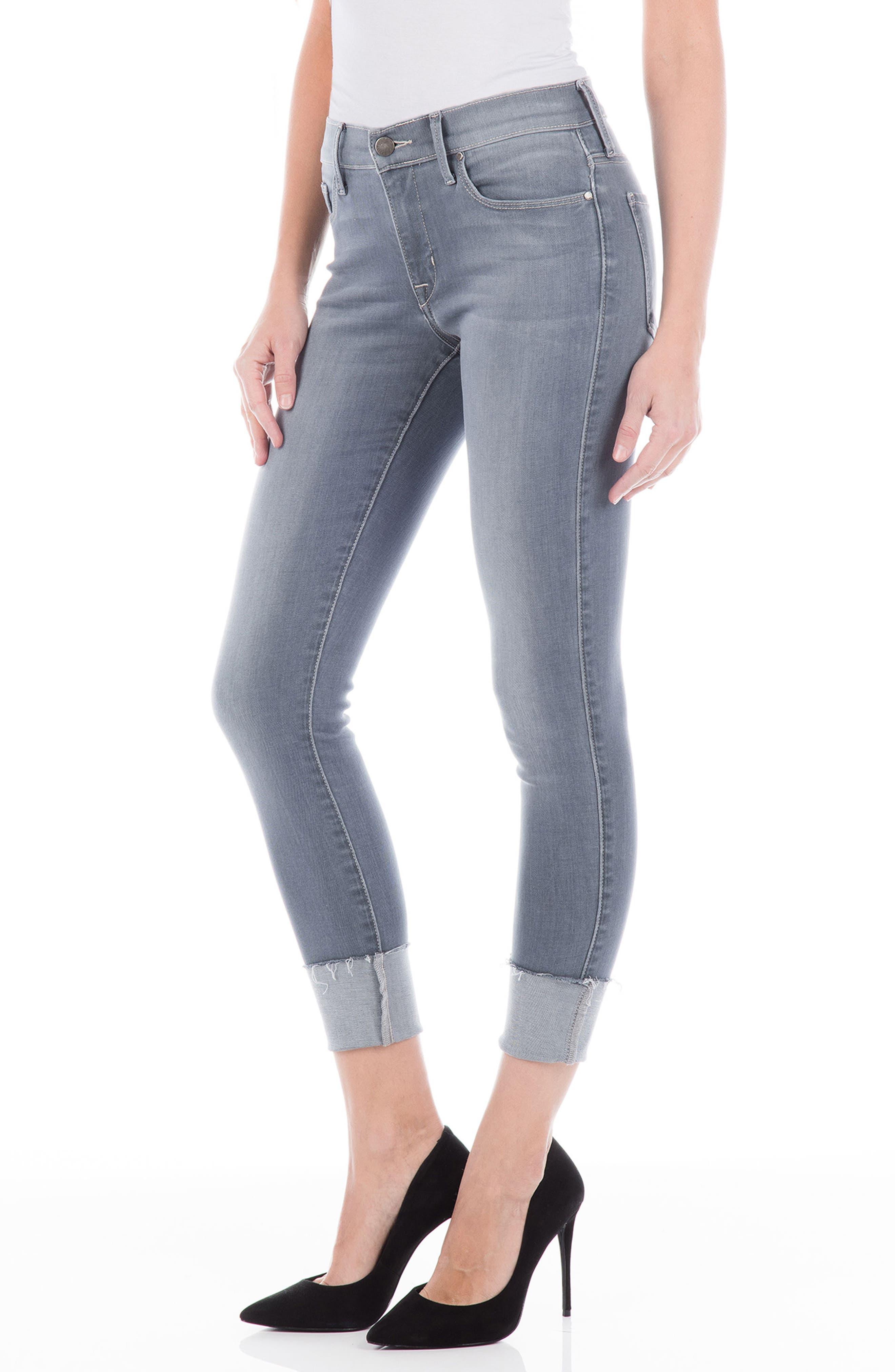 Belvedere Crop Skinny Jeans,                             Alternate thumbnail 3, color,                             020