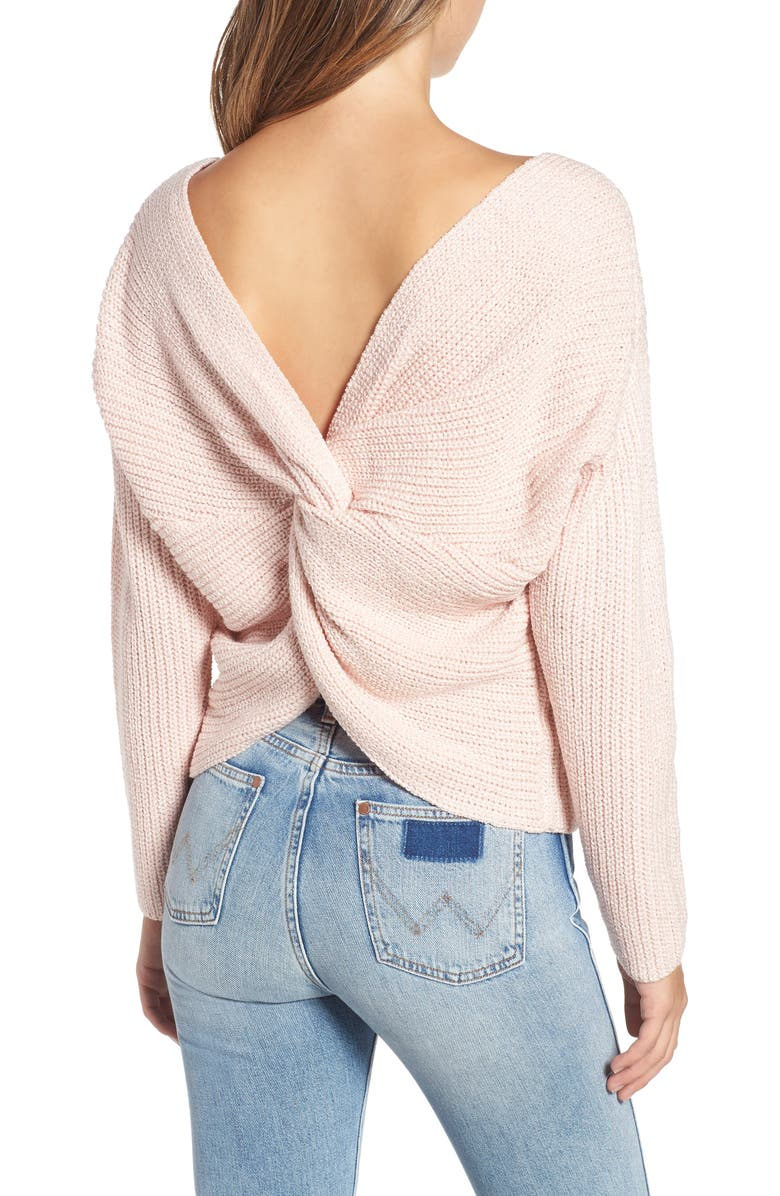 Twist Back Sweater,                         Alternate,                         color, COTTON CANDY