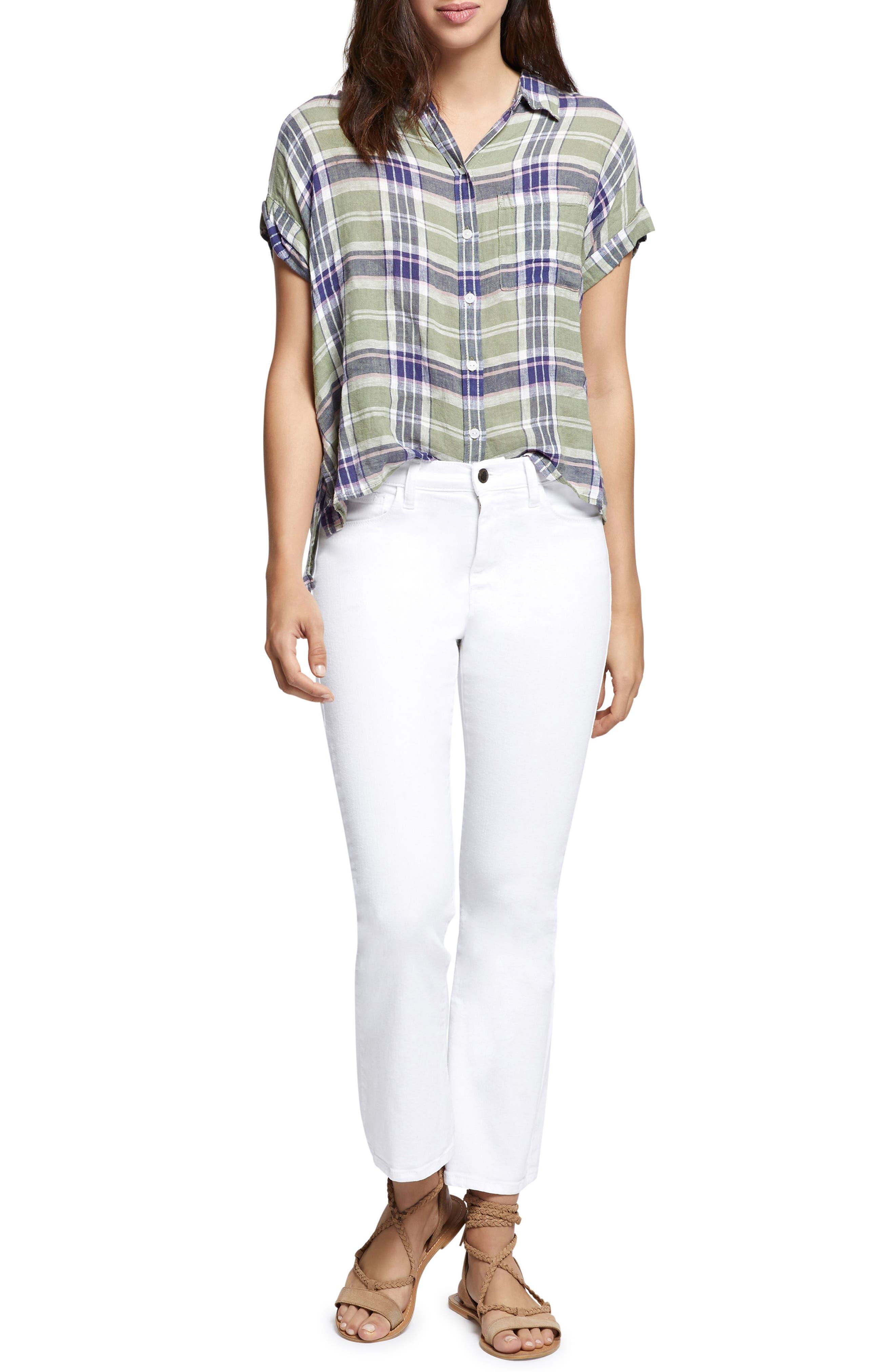 Mod Short Sleeve Boyfriend Shirt,                             Alternate thumbnail 28, color,