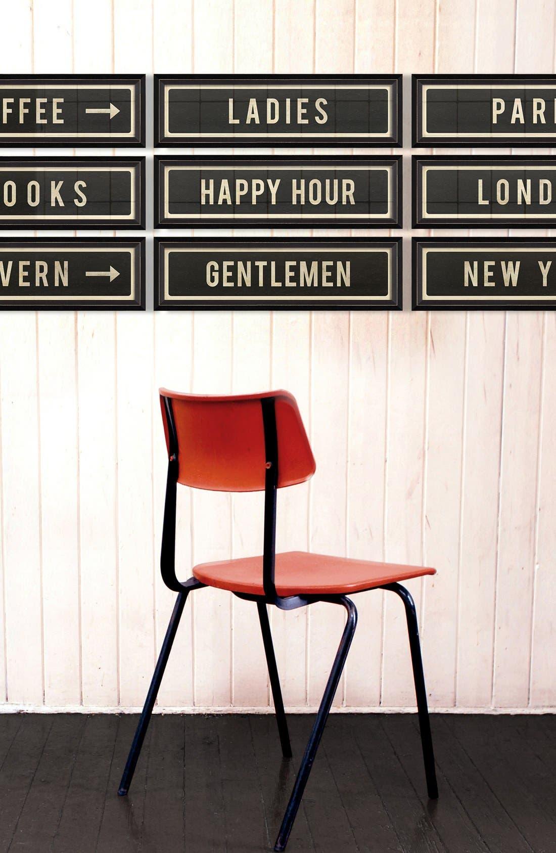 'Happy Hour' Vintage Look Street Sign Artwork,                             Alternate thumbnail 3, color,                             001