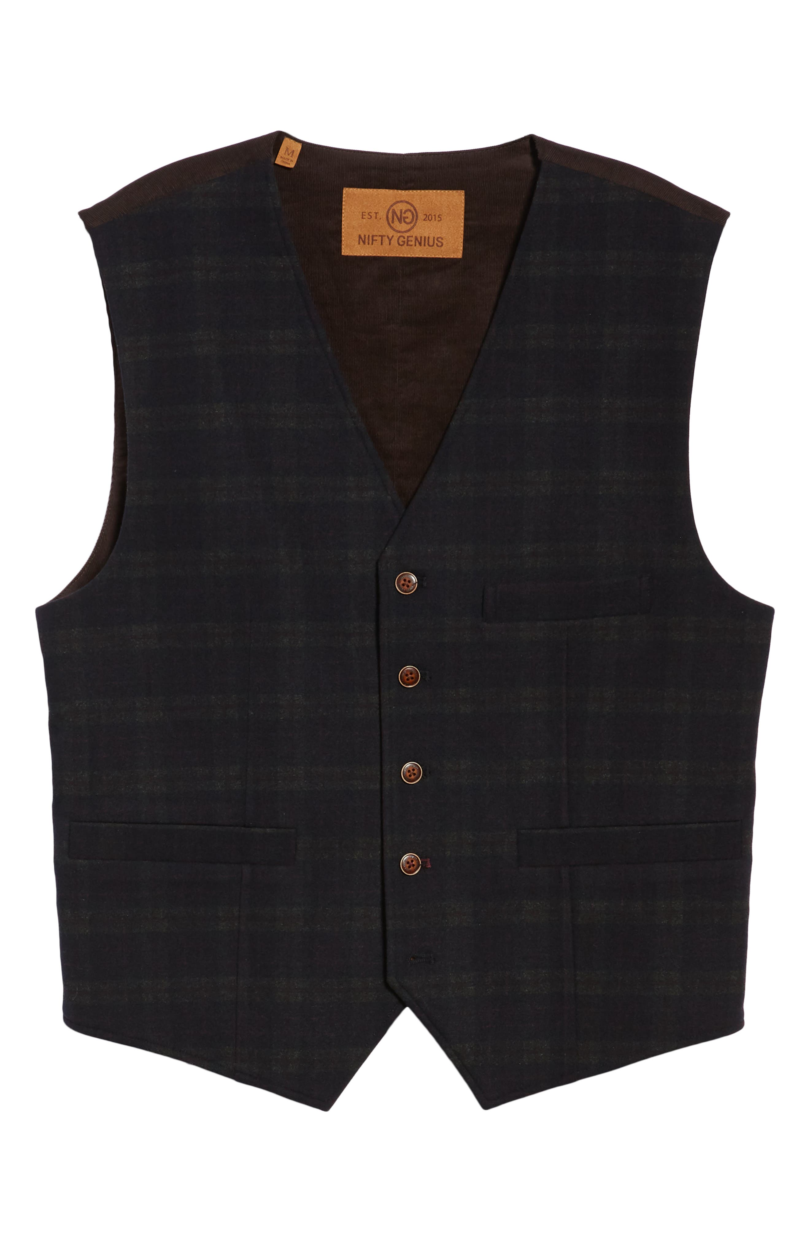 Albert Regular Fit Stretch Vest,                             Alternate thumbnail 5, color,                             MIDNIGHT/ RED/ CHARCOAL