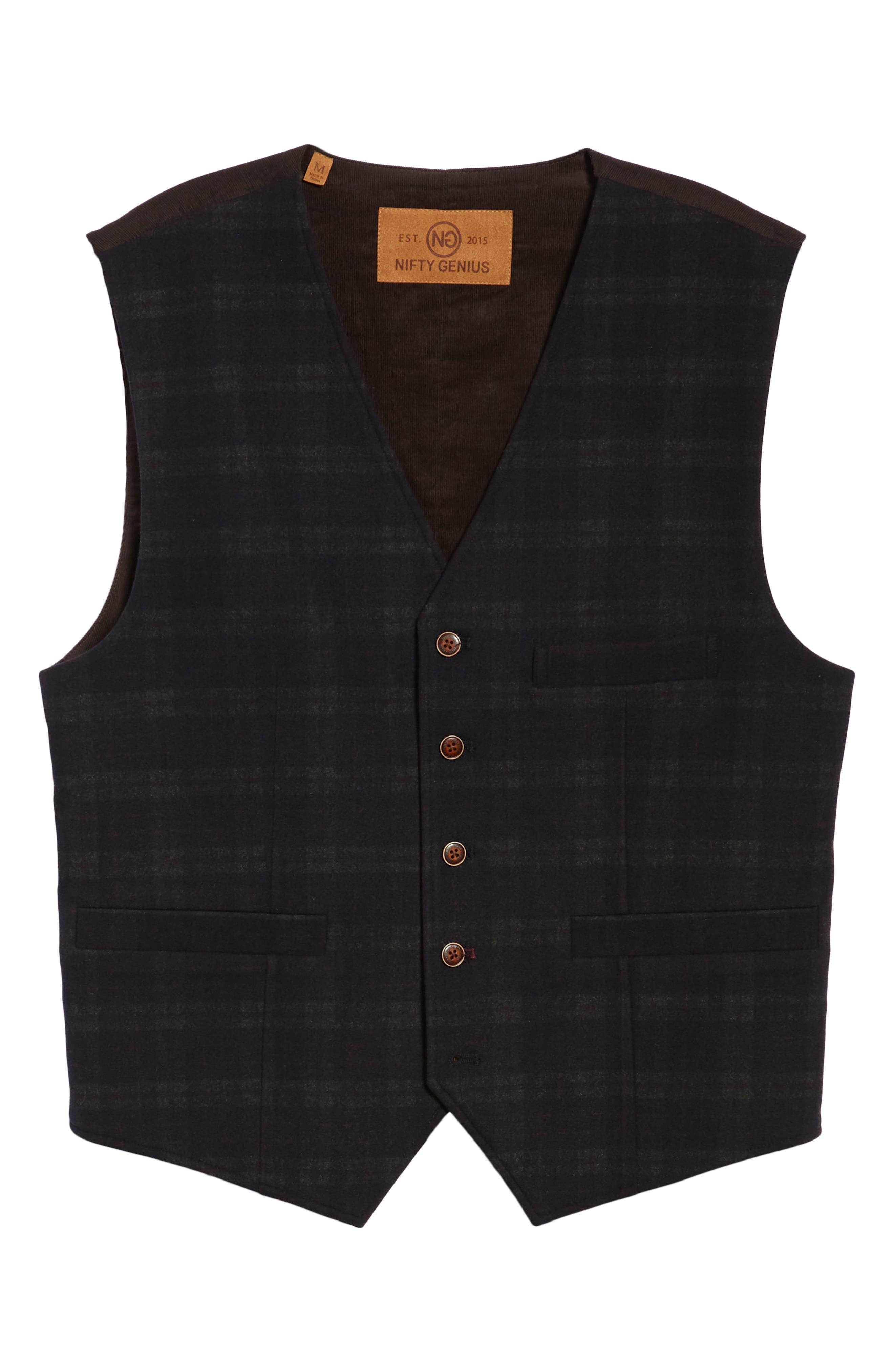 Albert Regular Fit Stretch Vest,                             Alternate thumbnail 5, color,                             401