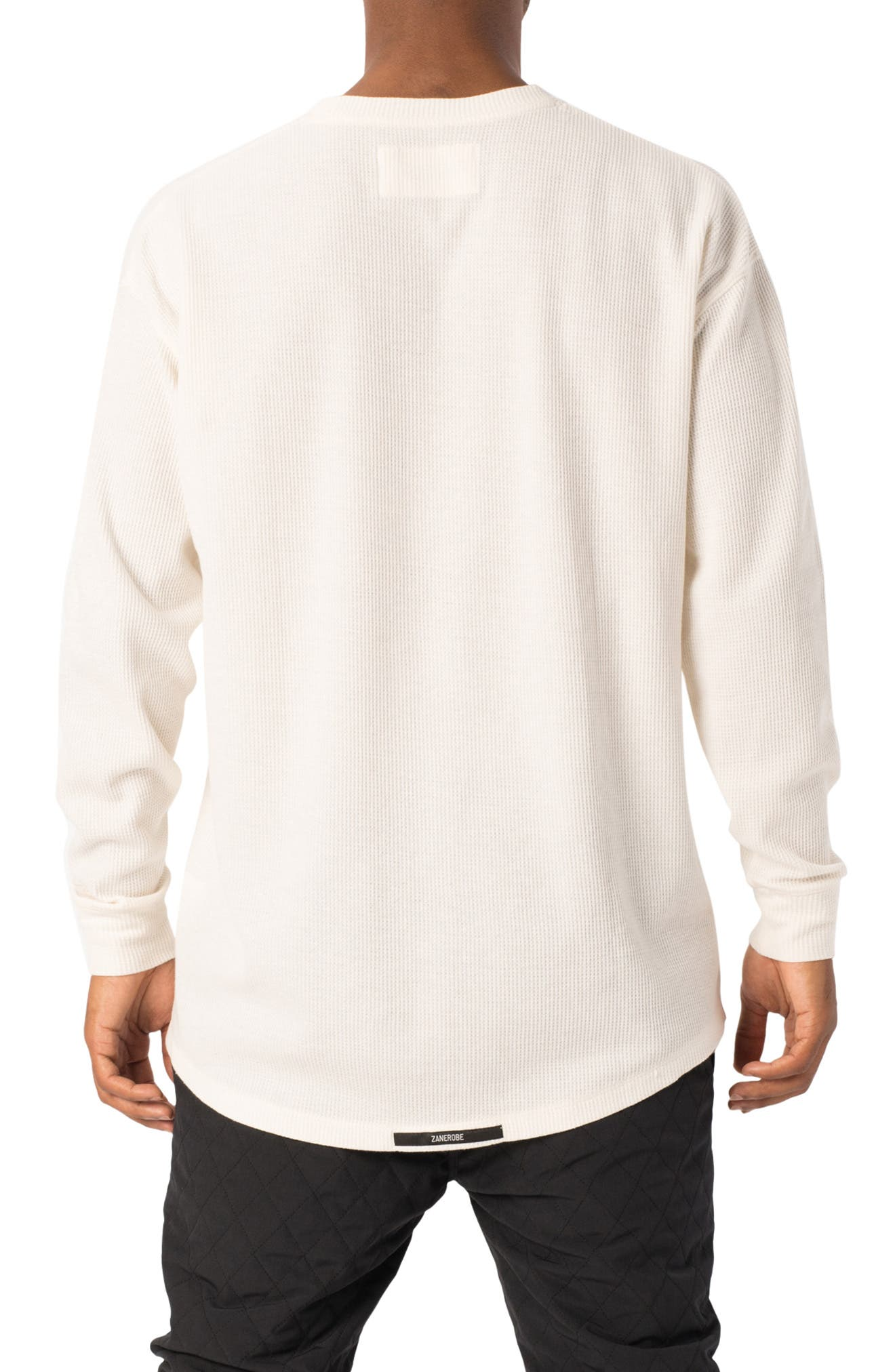 Rugger Waffle Knit Long Sleeve T-Shirt,                             Alternate thumbnail 2, color,                             BONE
