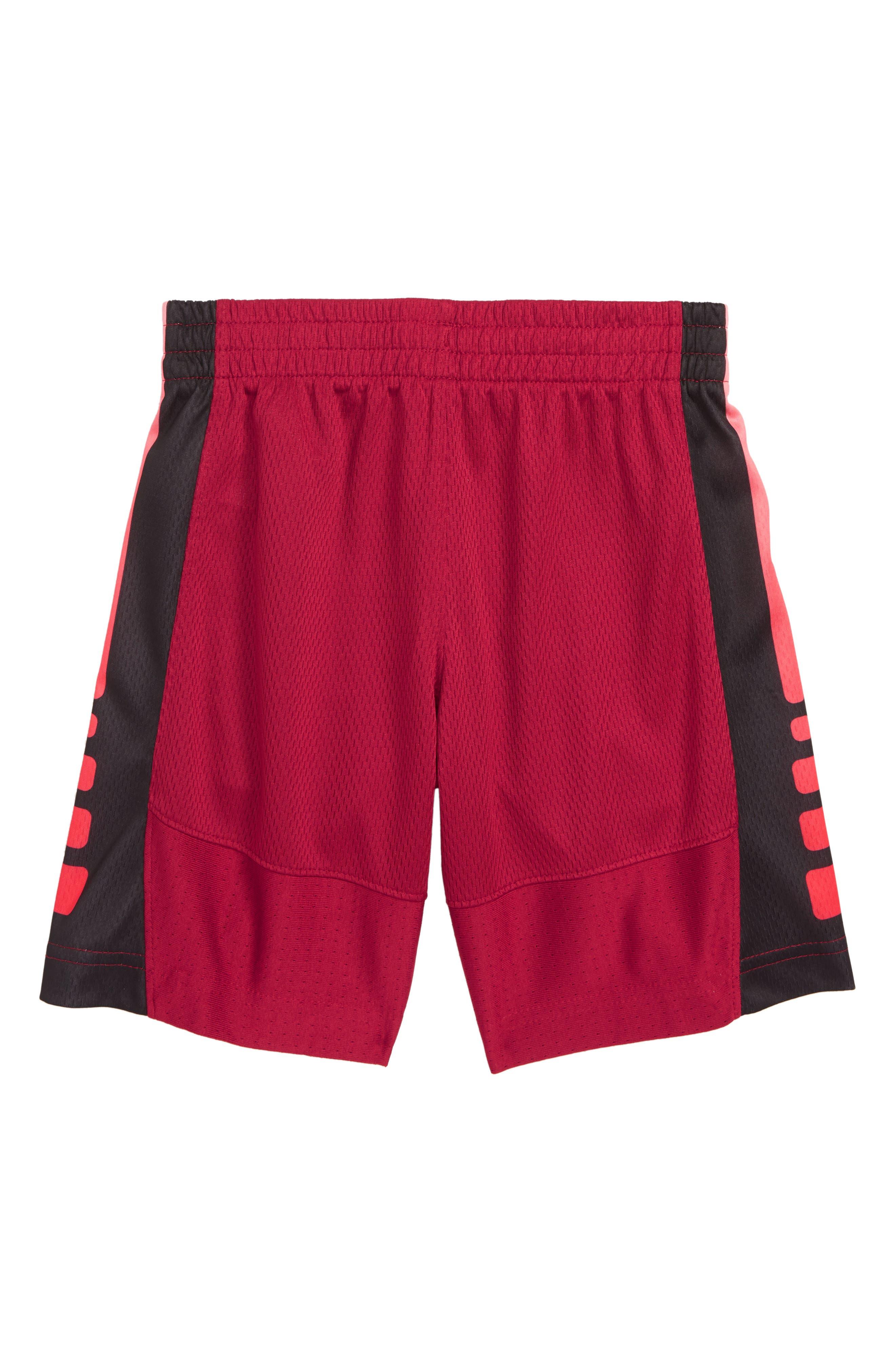 Elite Stripe Shorts,                             Alternate thumbnail 2, color,                             RED CRUSH
