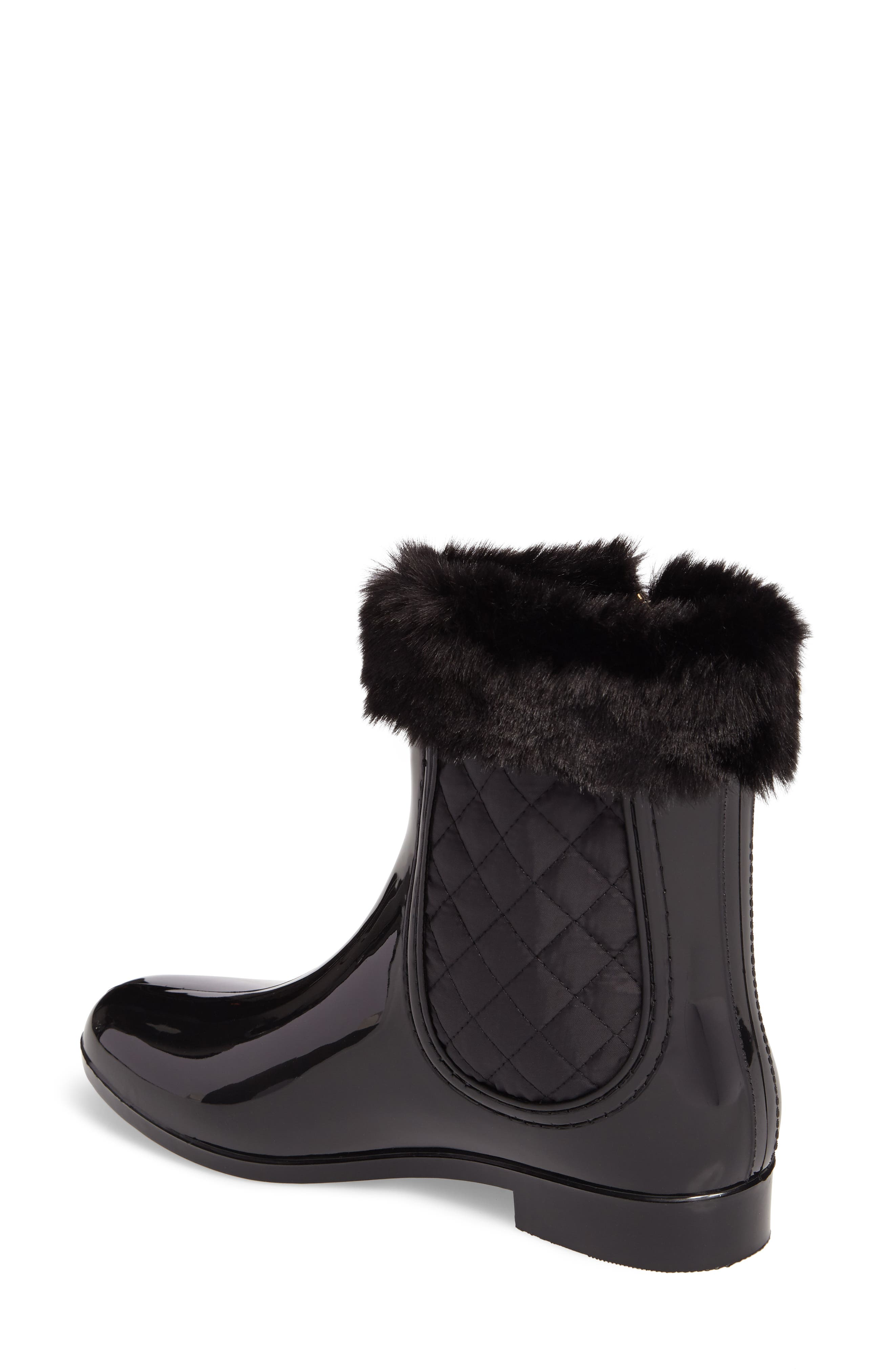 Glasgow Faux Fur Cuff Boot,                             Alternate thumbnail 2, color,                             BLACK