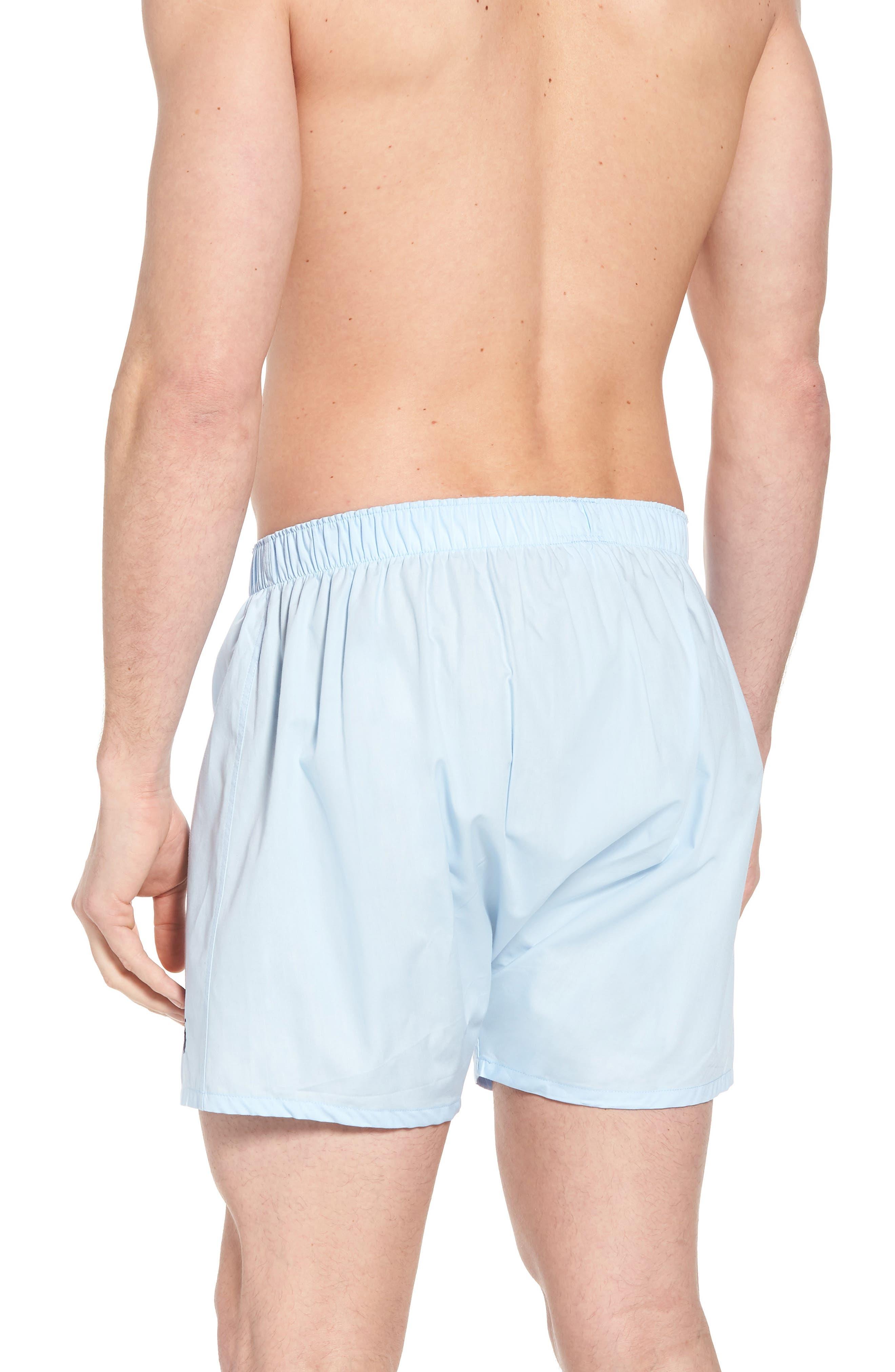 3-Pack Cotton Boxers,                             Alternate thumbnail 3, color,                             WHITE/ LIGHT BLUE/ CRUISE NAVY